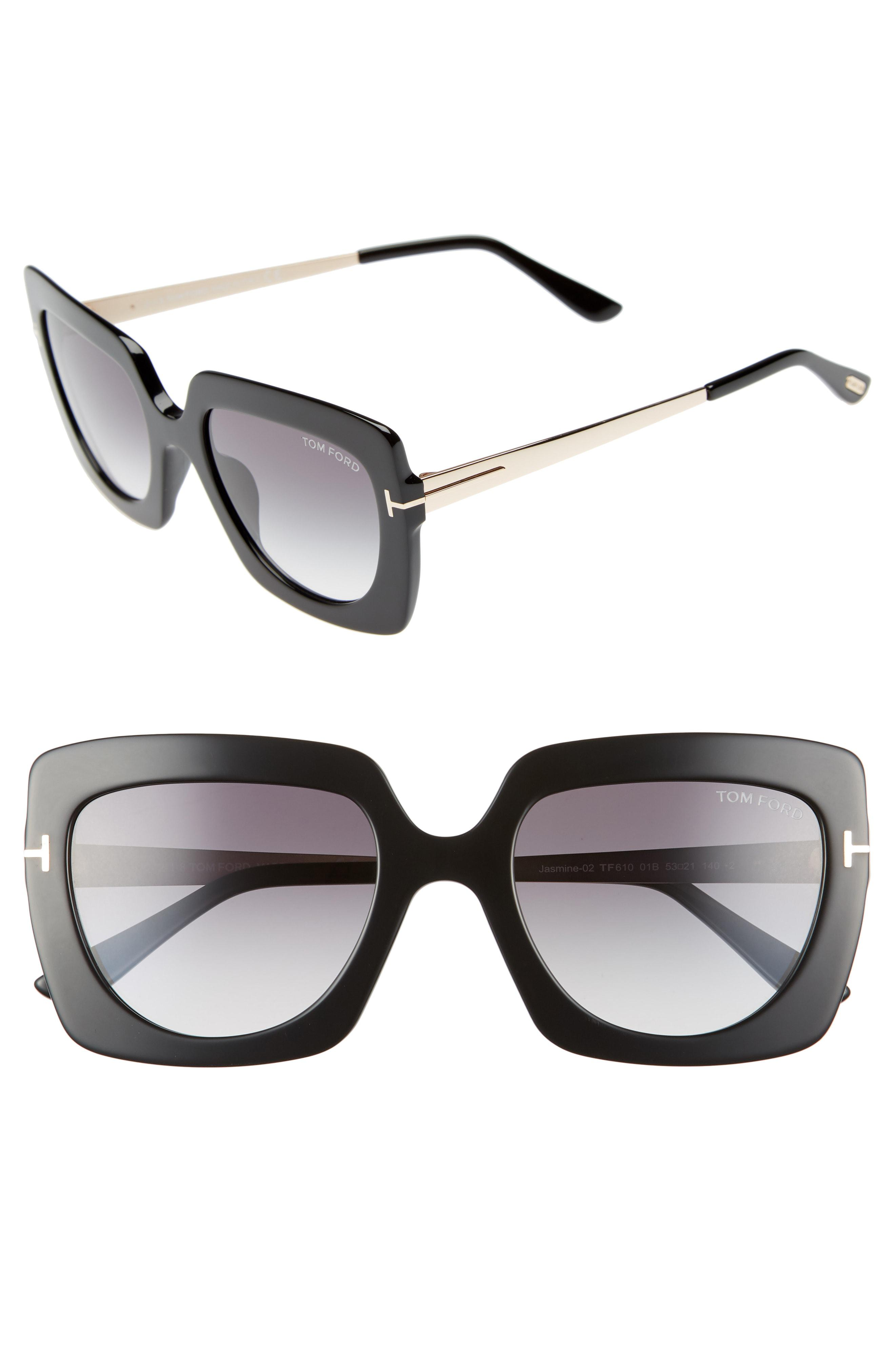 acbbf80544 Lyst - Tom Ford Jasmine 53mm Sunglasses - Shiny Black  Gradient ...