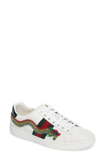 0a2d22b59af Lyst - Gucci New Ace Dragon Sneaker in White for Men