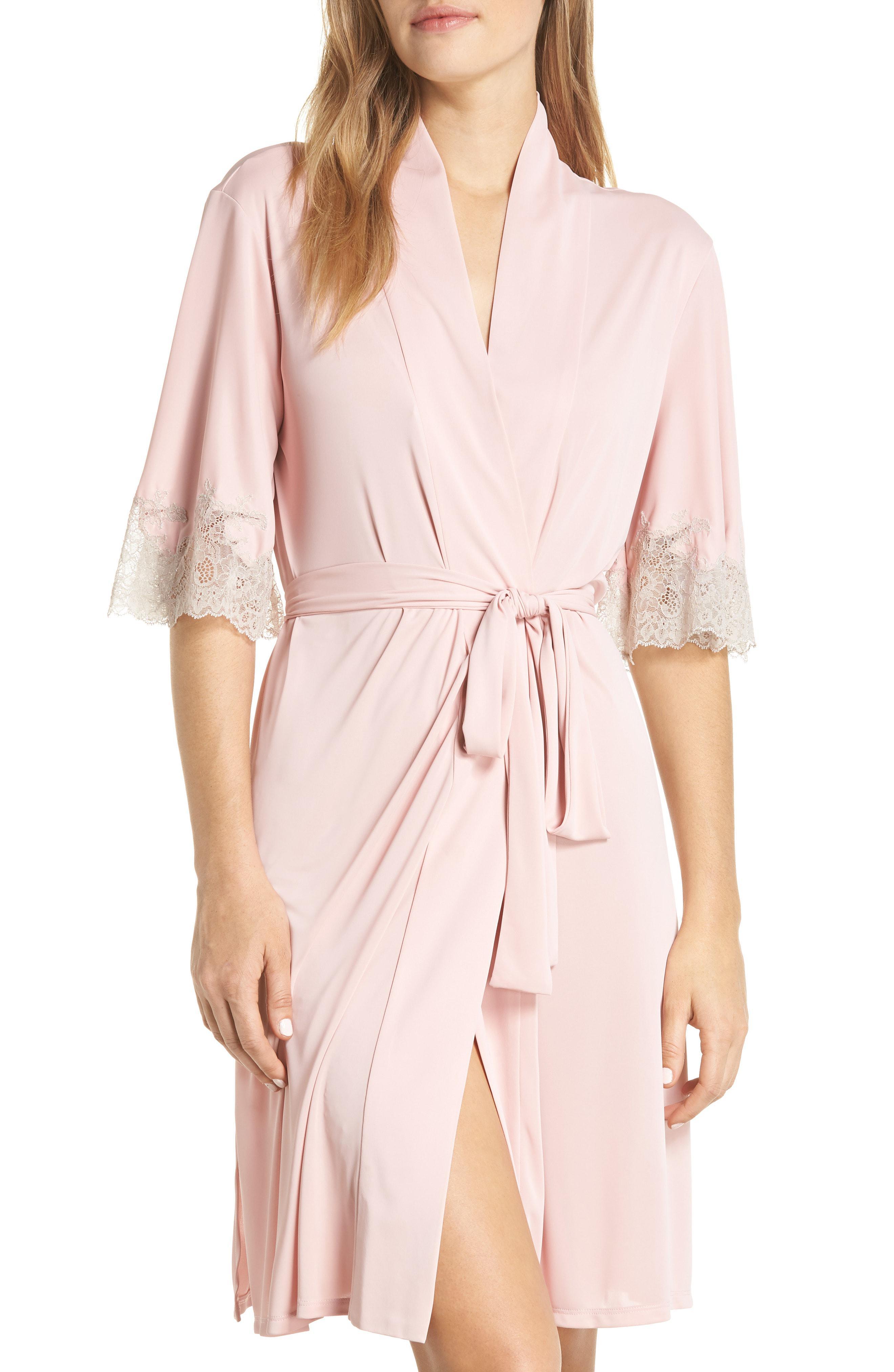 Lyst - Natori Enchant Lace Trim Wrap in Pink a7b50f7b6
