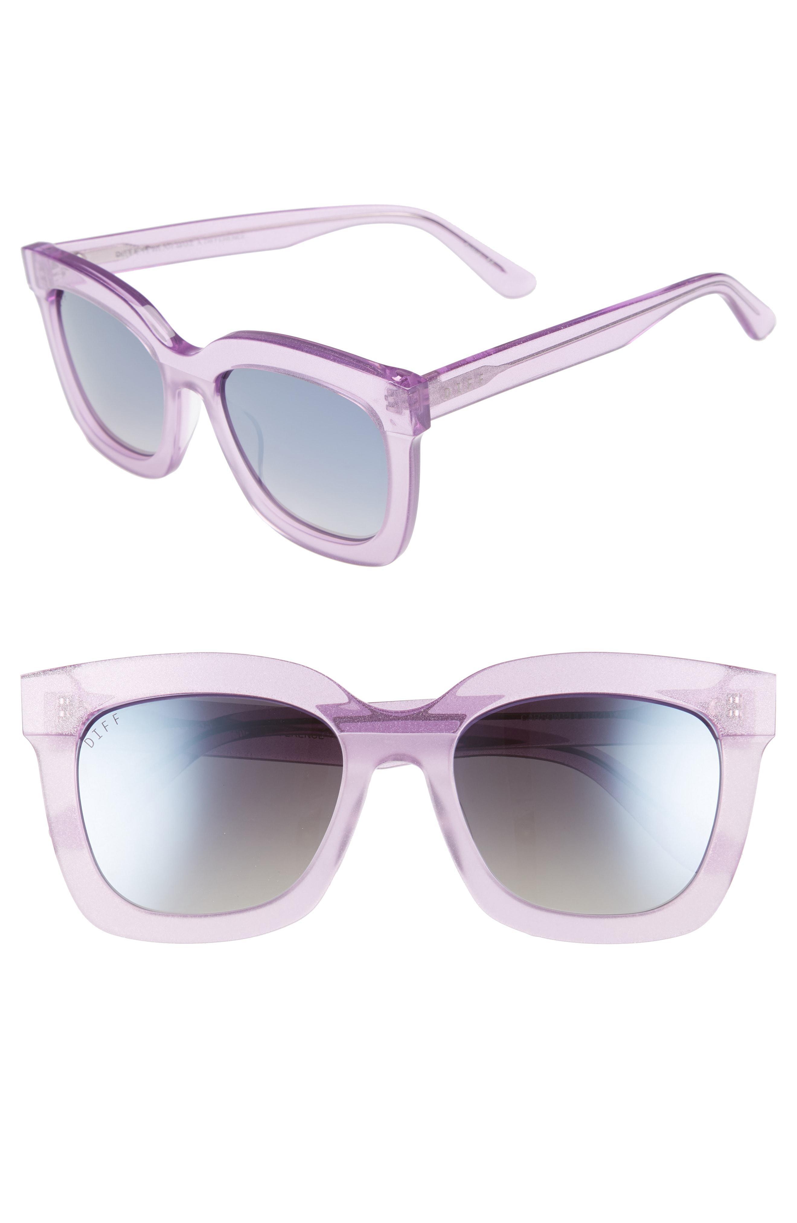 2fdd3ae40e8 Lyst - DIFF Carson 53mm Polarized Square Sunglasses - in Purple