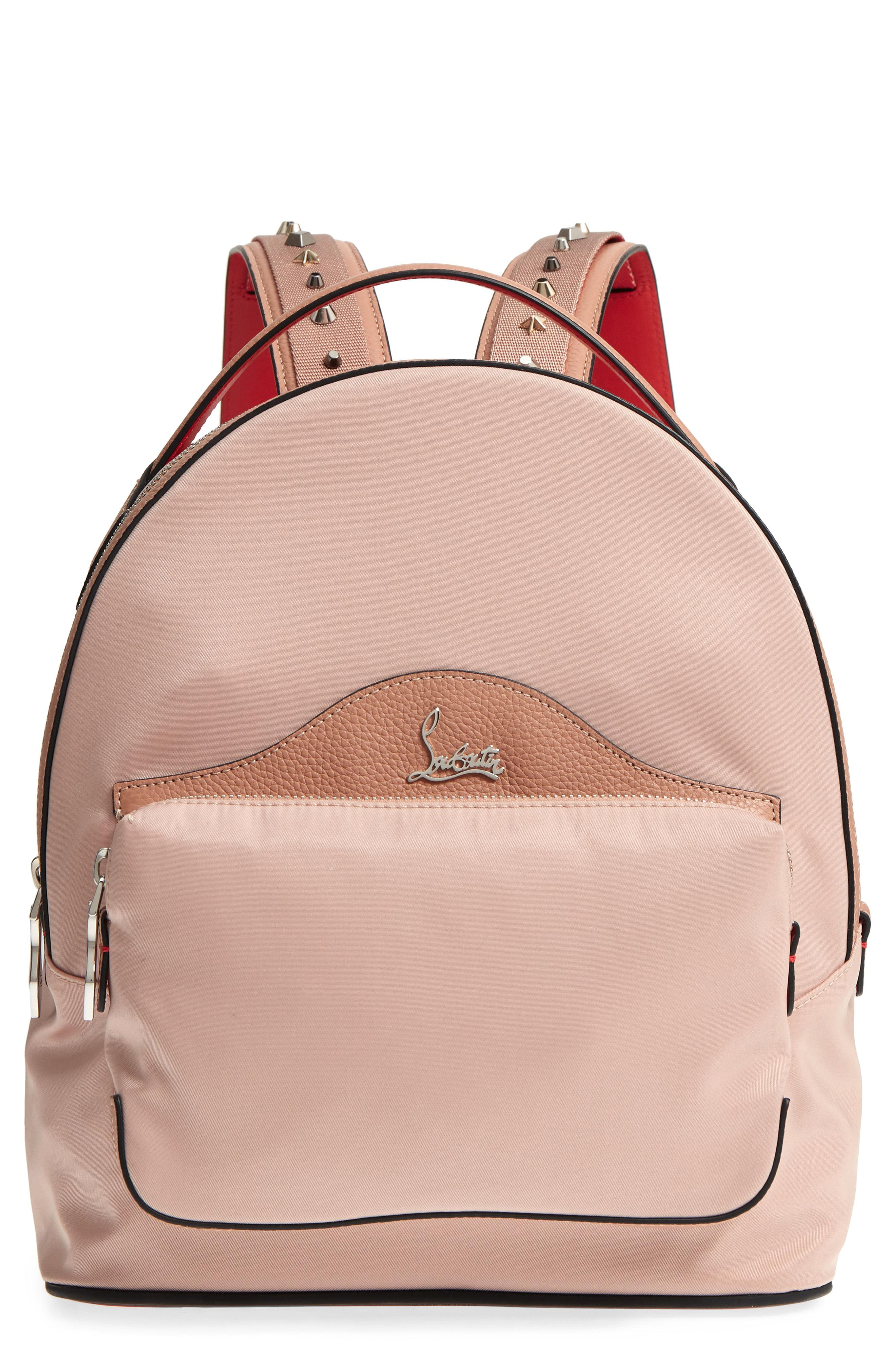 64daafcc64b Lyst - Christian Louboutin Small Backloubi Nylon Backpack in Natural
