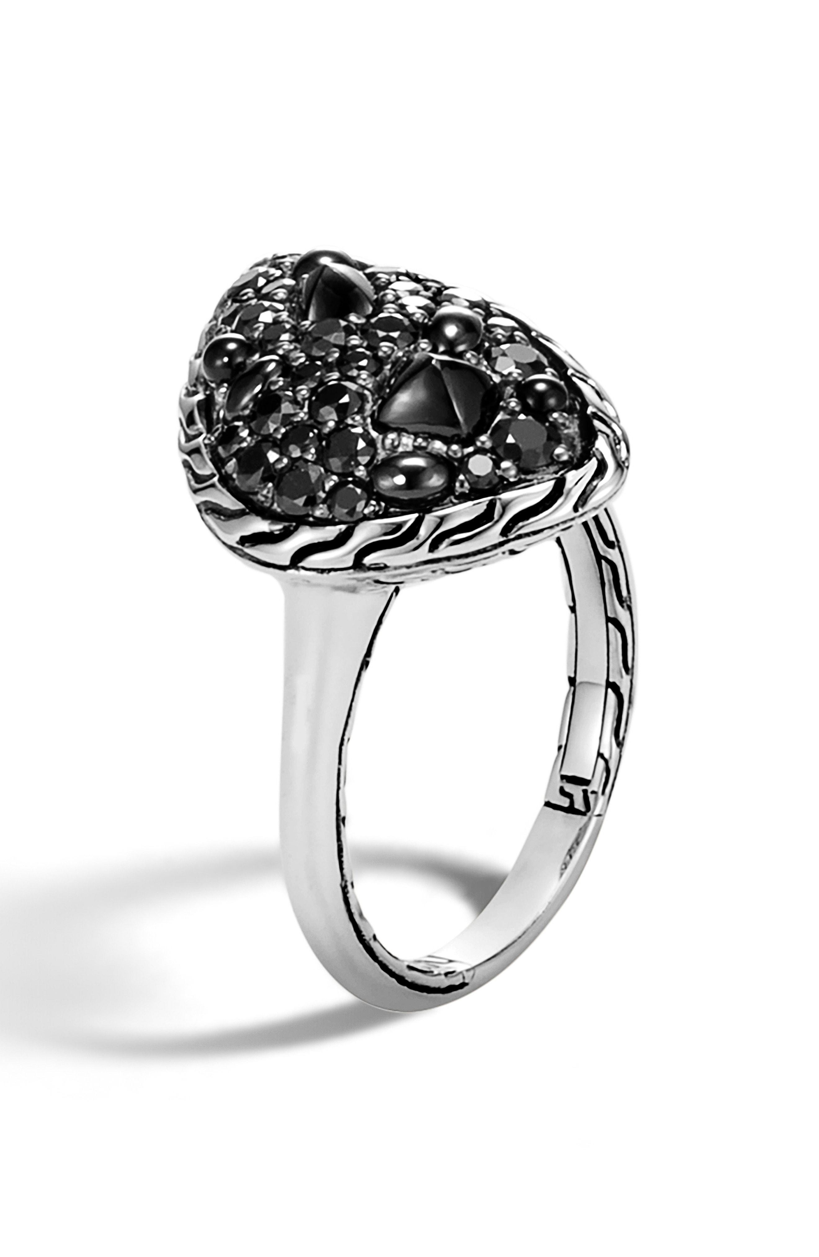 f8b08e5ee521b Lyst - John Hardy Classic Chain Small Stone Ring in Black