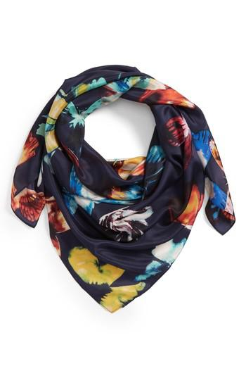 fc613ccc4 Nordstrom Print Silk Square Scarf in Blue - Lyst