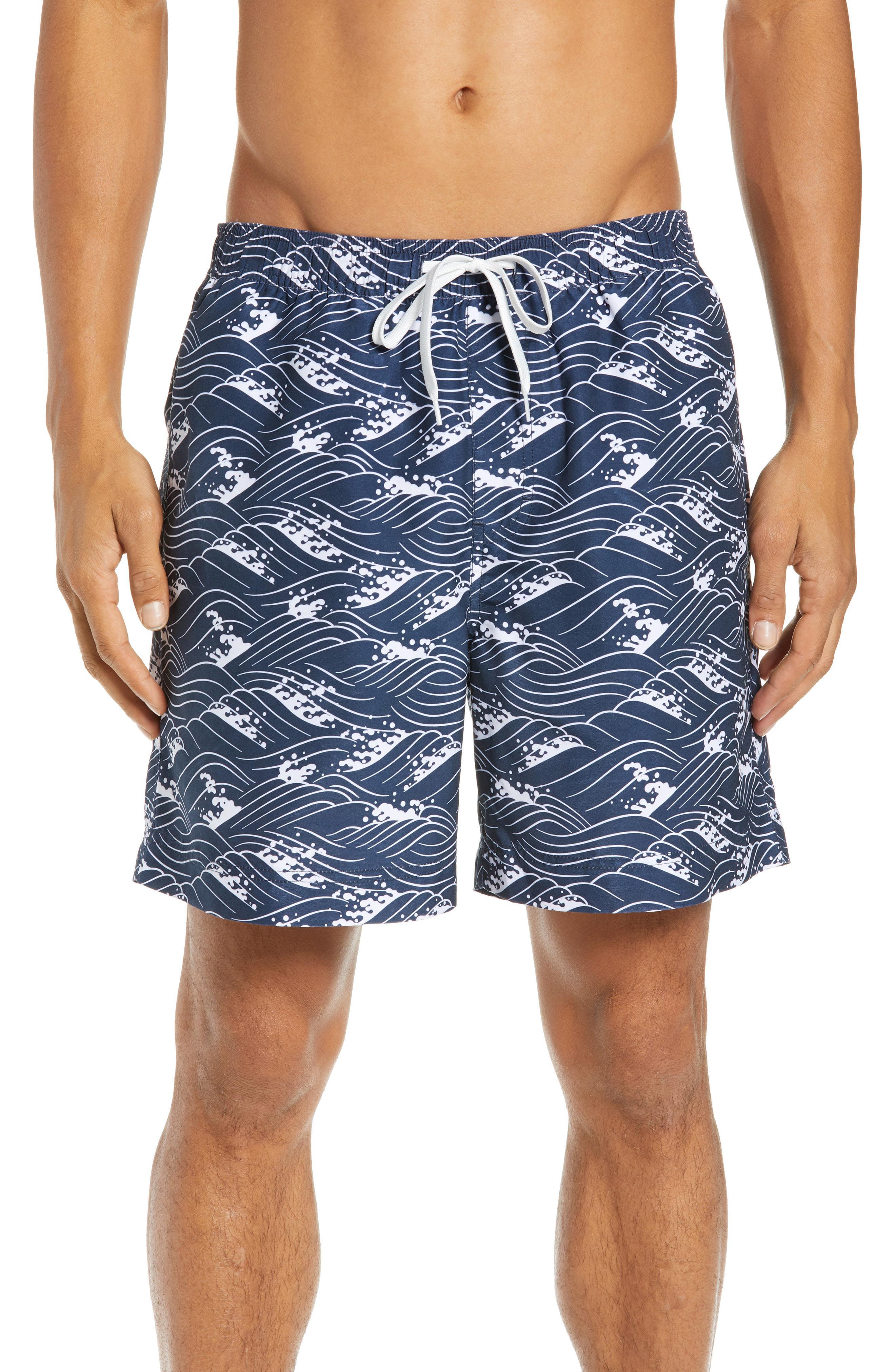 d09b64e6f6682 Lyst - Nordstrom 1901 Swim Trunks in Blue for Men