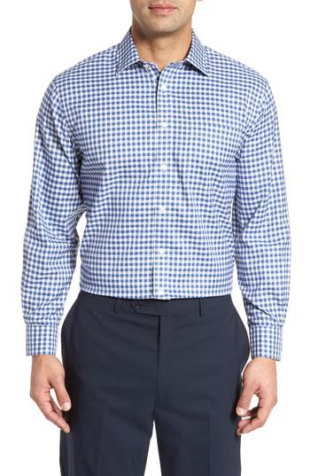 Lyst nordstrom smartcare tm traditional fit check dress for Nordstrom custom dress shirts