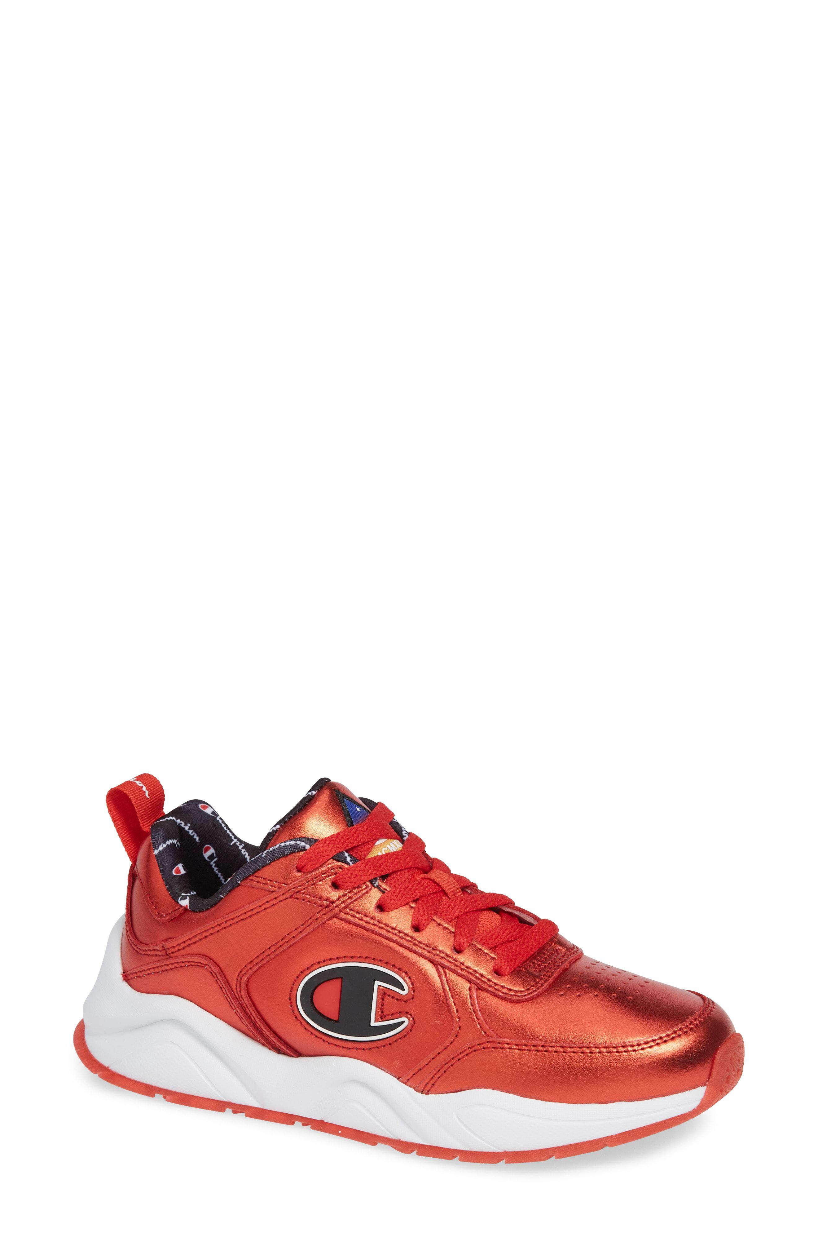 fafc7a8f7b7 Lyst - Champion 93 Eighteen Metallic Sneaker in Red