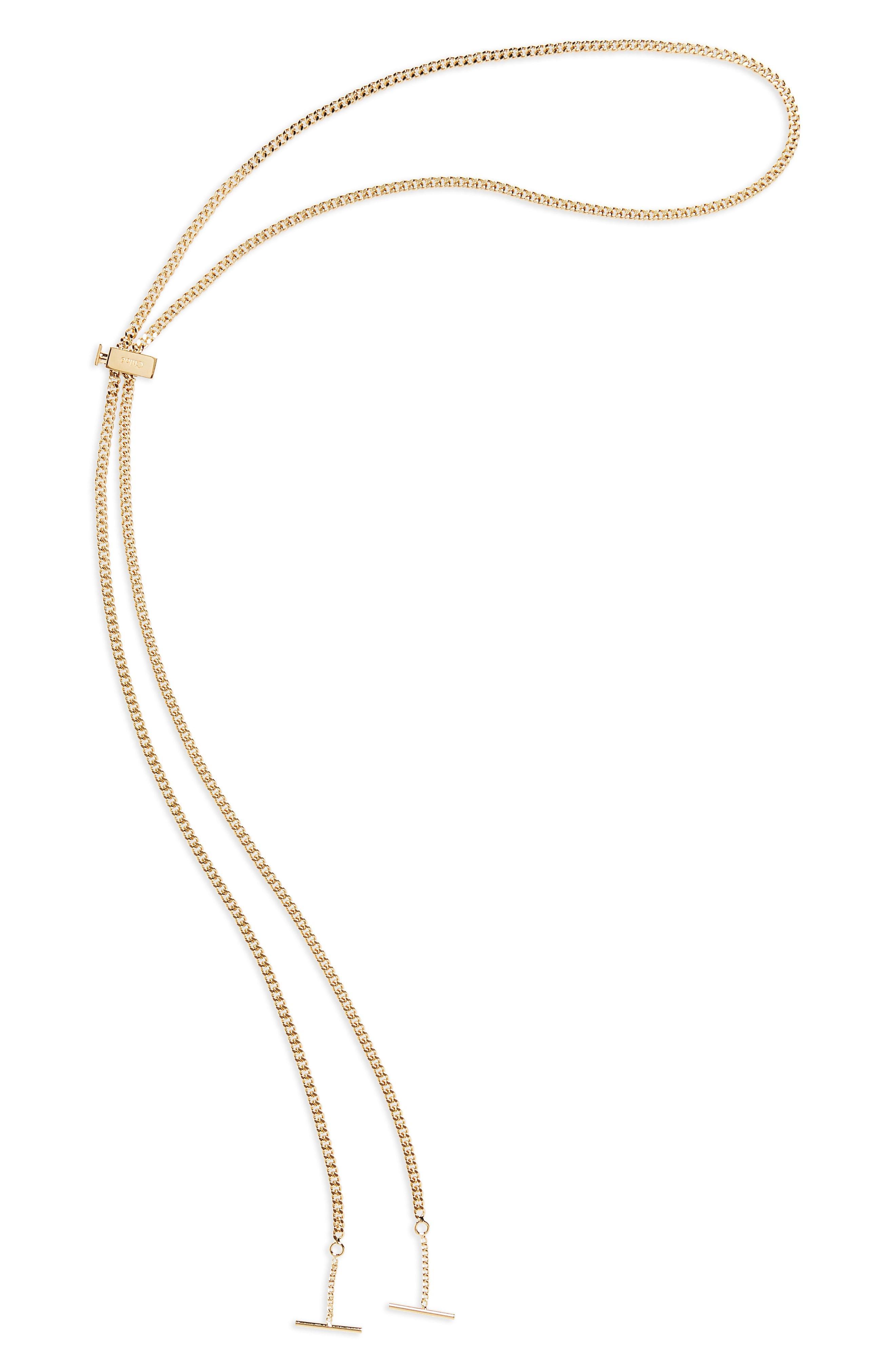 0feb06739d6 Lyst - Chloé Eyewear Chain in Metallic