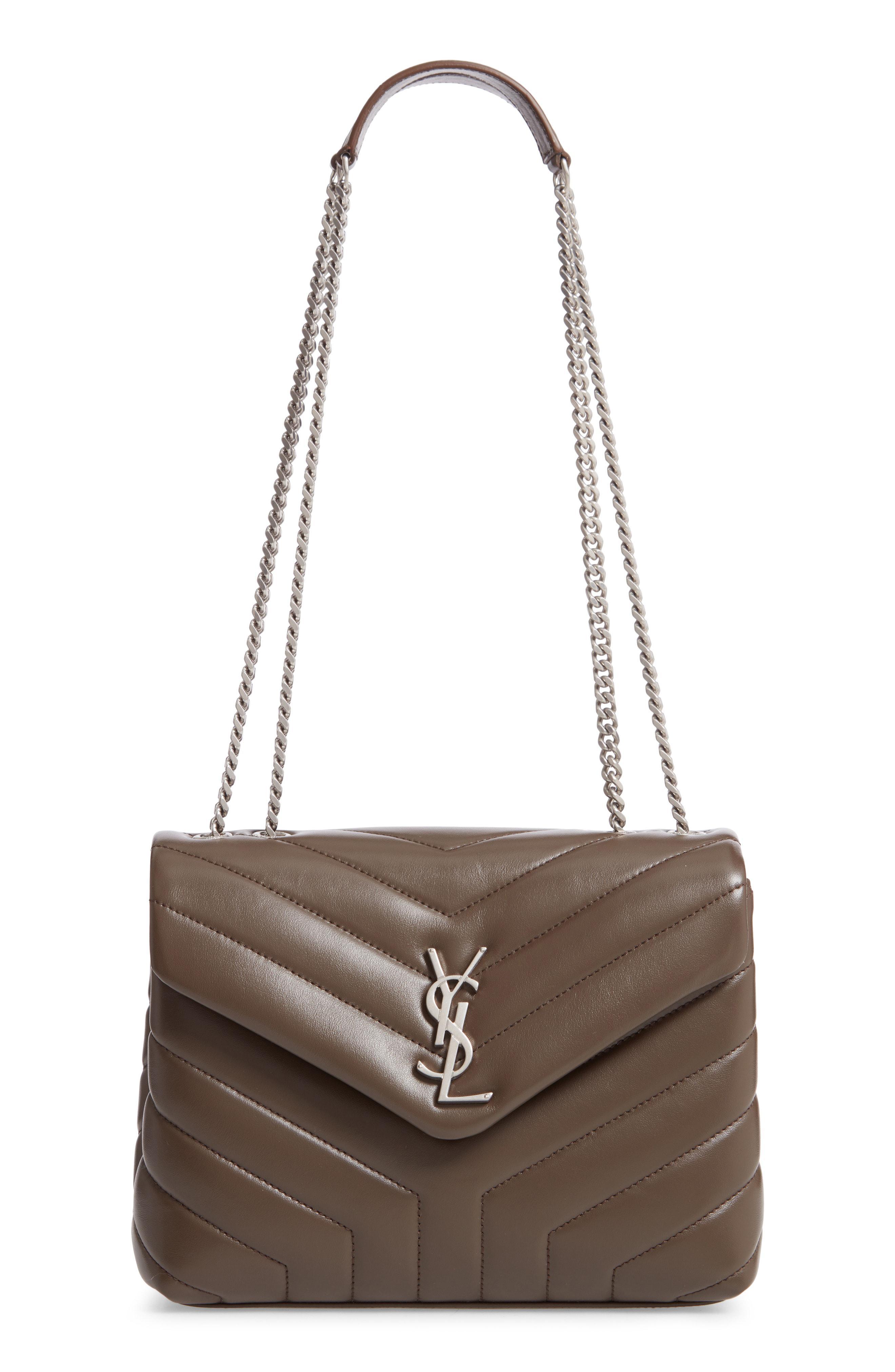 3f34aa858 Saint Laurent - Brown Small Loulou Matelasse Leather Shoulder Bag - Lyst
