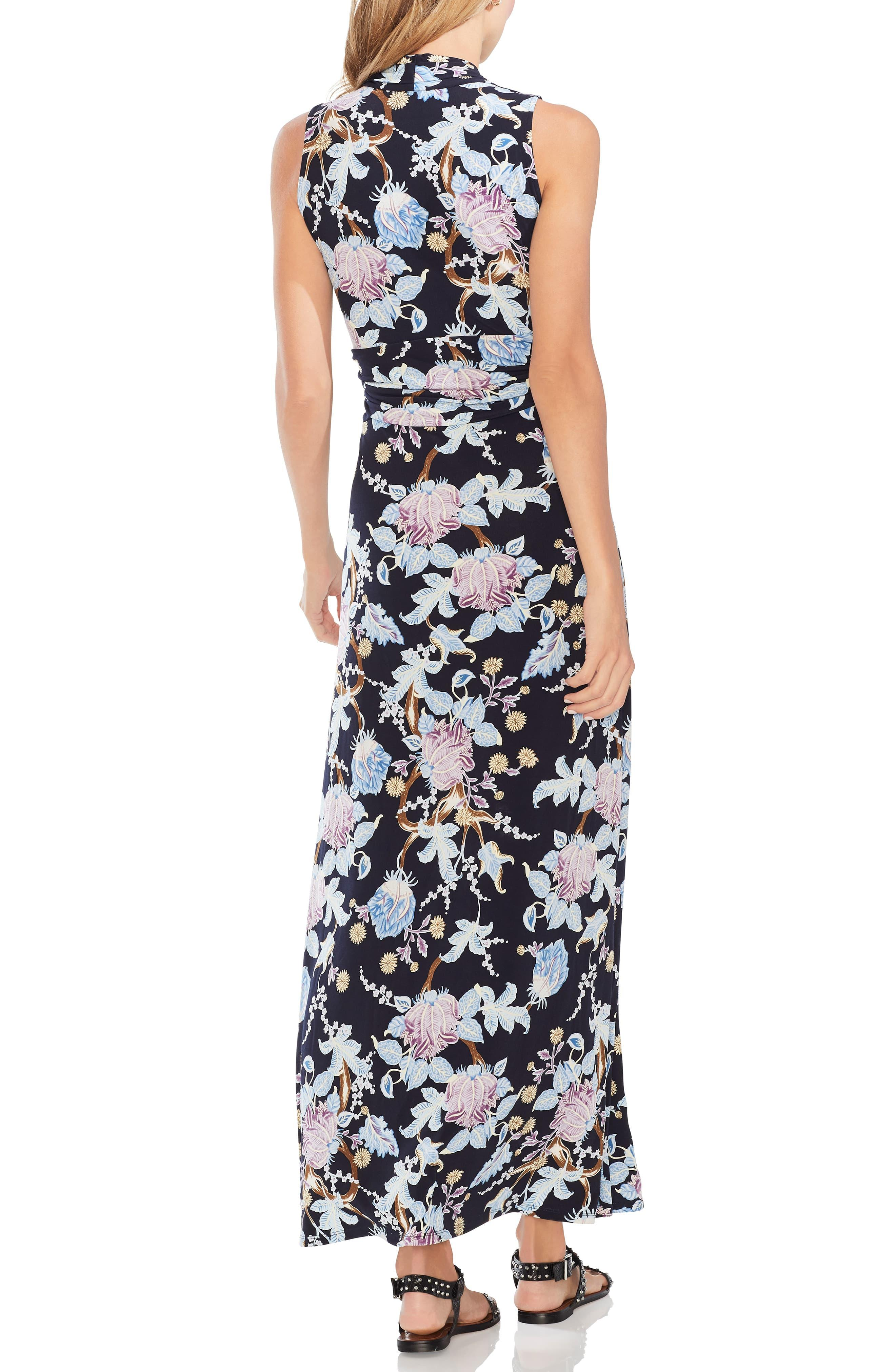 3d7e58ed6799 Vince Camuto Poetic Blooms Sleeveless Maxi Dress in Black - Lyst