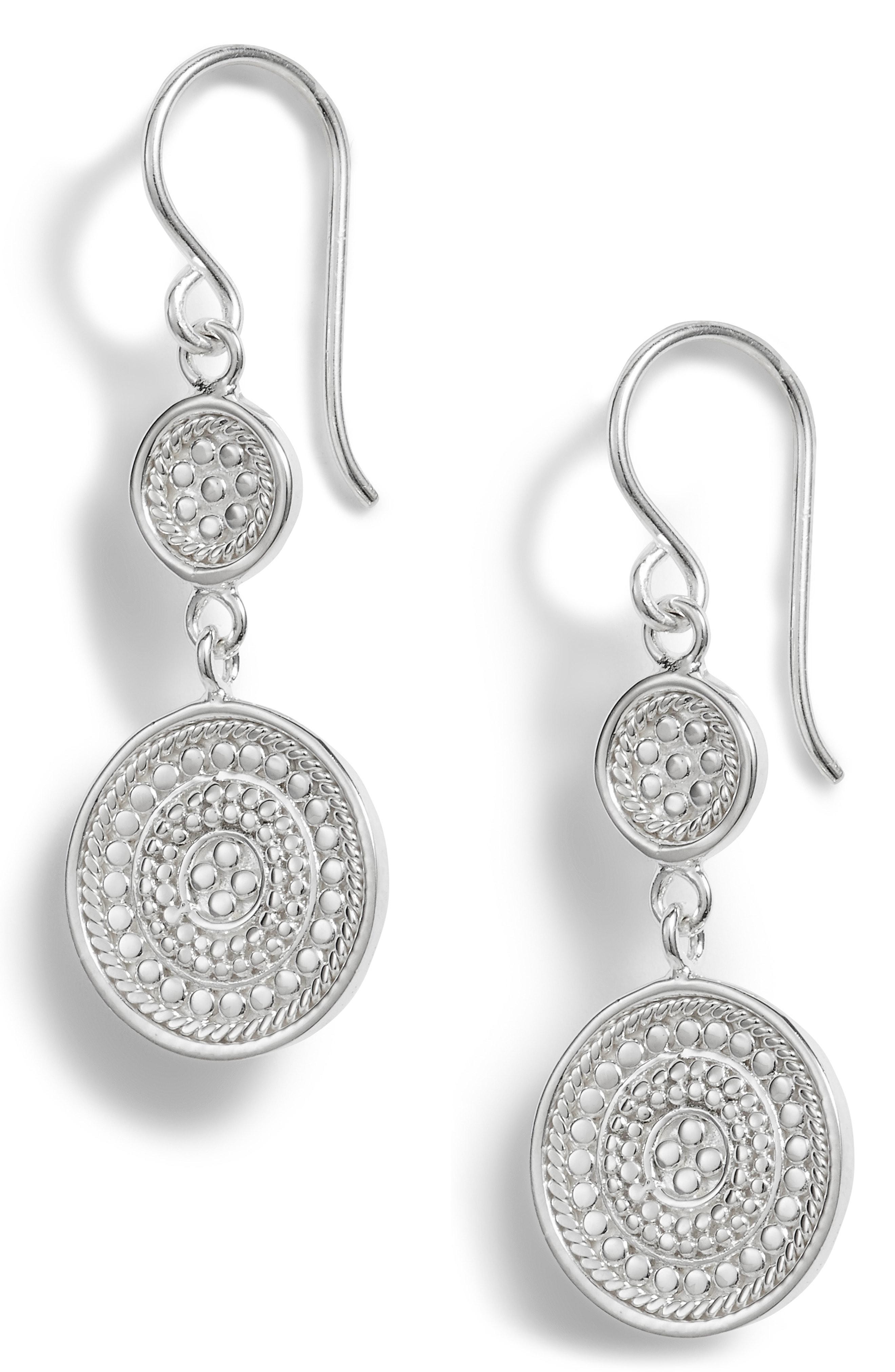 c2b522bdf Lyst - Anna Beck Beaded Double Drop Earrings in Metallic