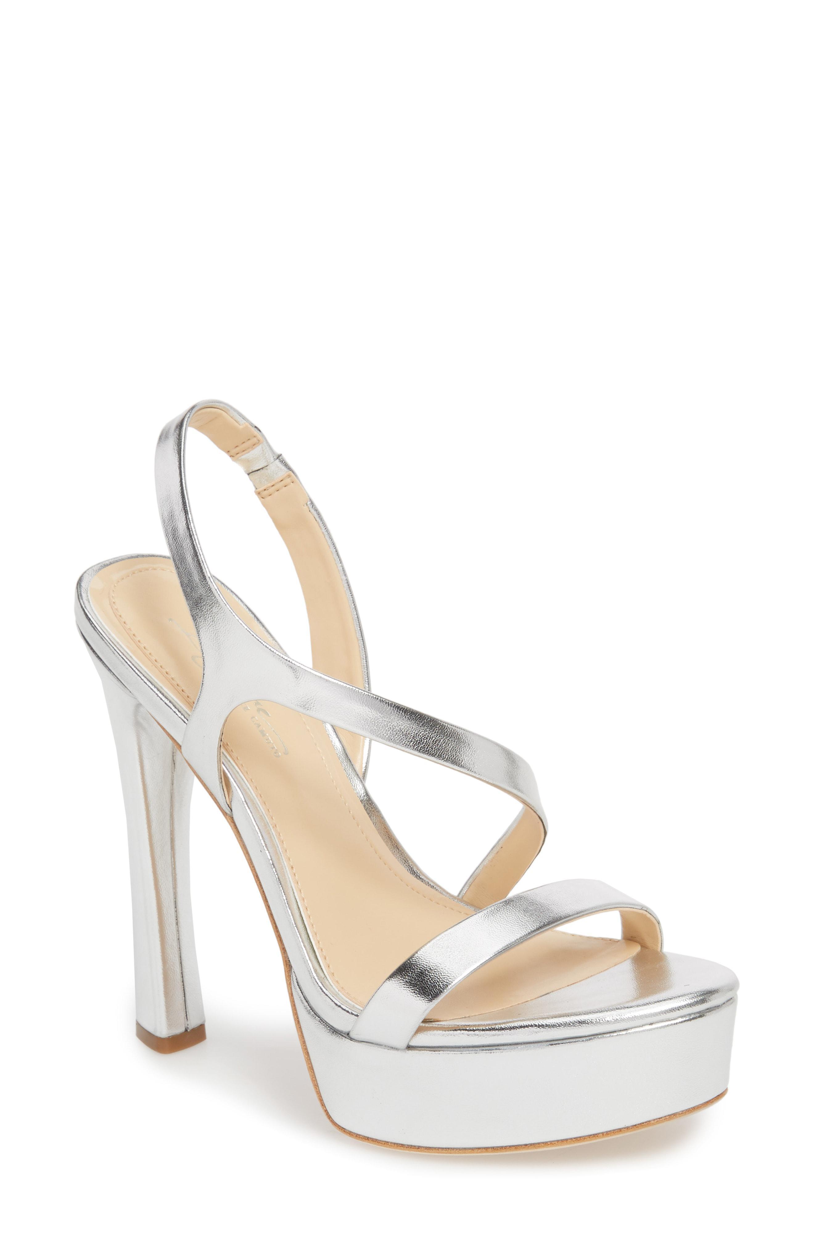 fc6149703618 Lyst - Imagine Vince Camuto Piera Platform Sandal in Metallic
