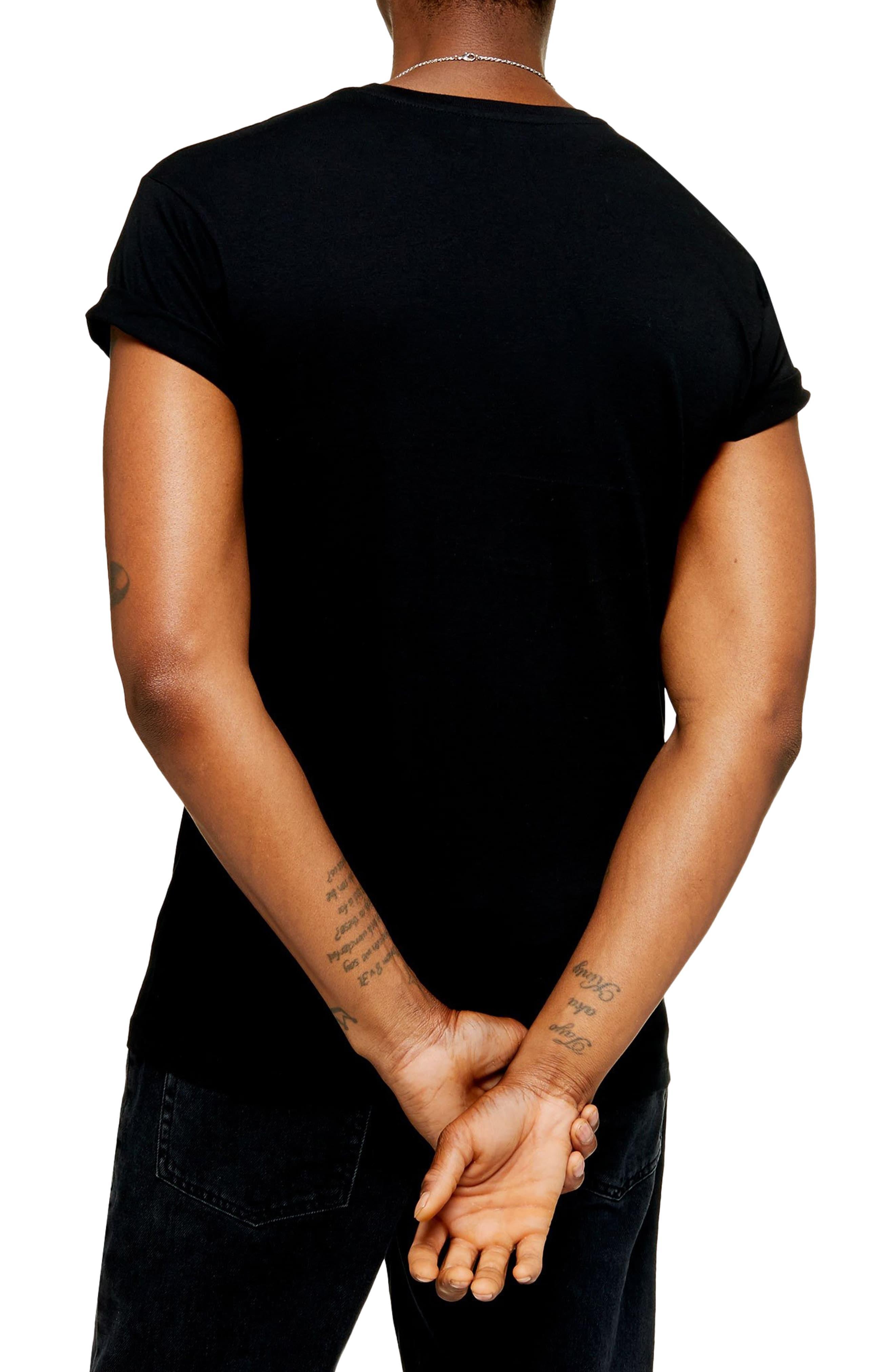1a7ed18c1 Topman - Black 2-pack Classic Fit Roller Sleeve T-shirts for Men -. View  fullscreen