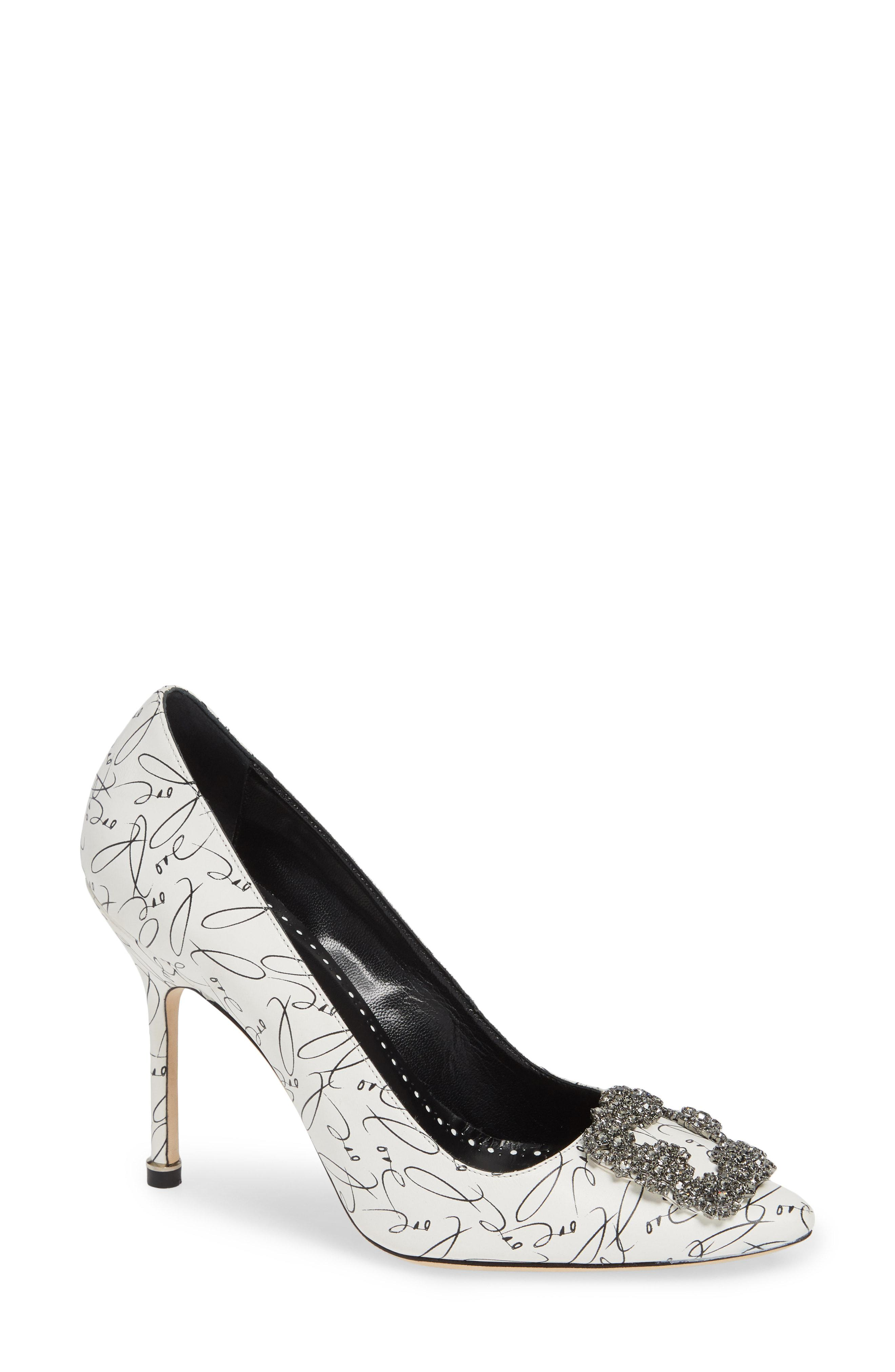 82b8553d3 Lyst - Manolo Blahnik Decade Of Love Hangisi Anniversary Embellished ...
