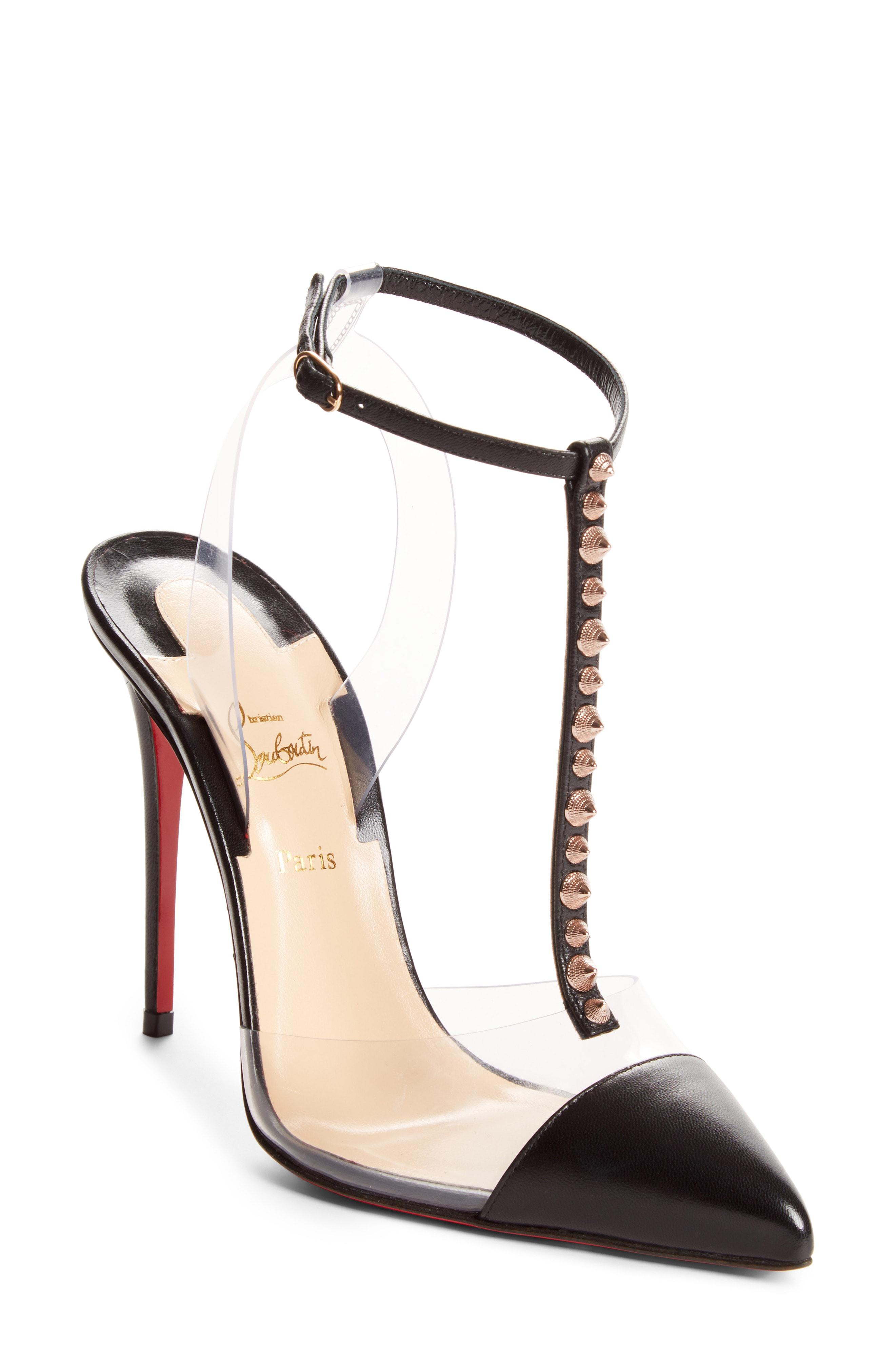 Lyst - Christian Louboutin Nosy Spikes Pvc Pump in Metallic 519140238a