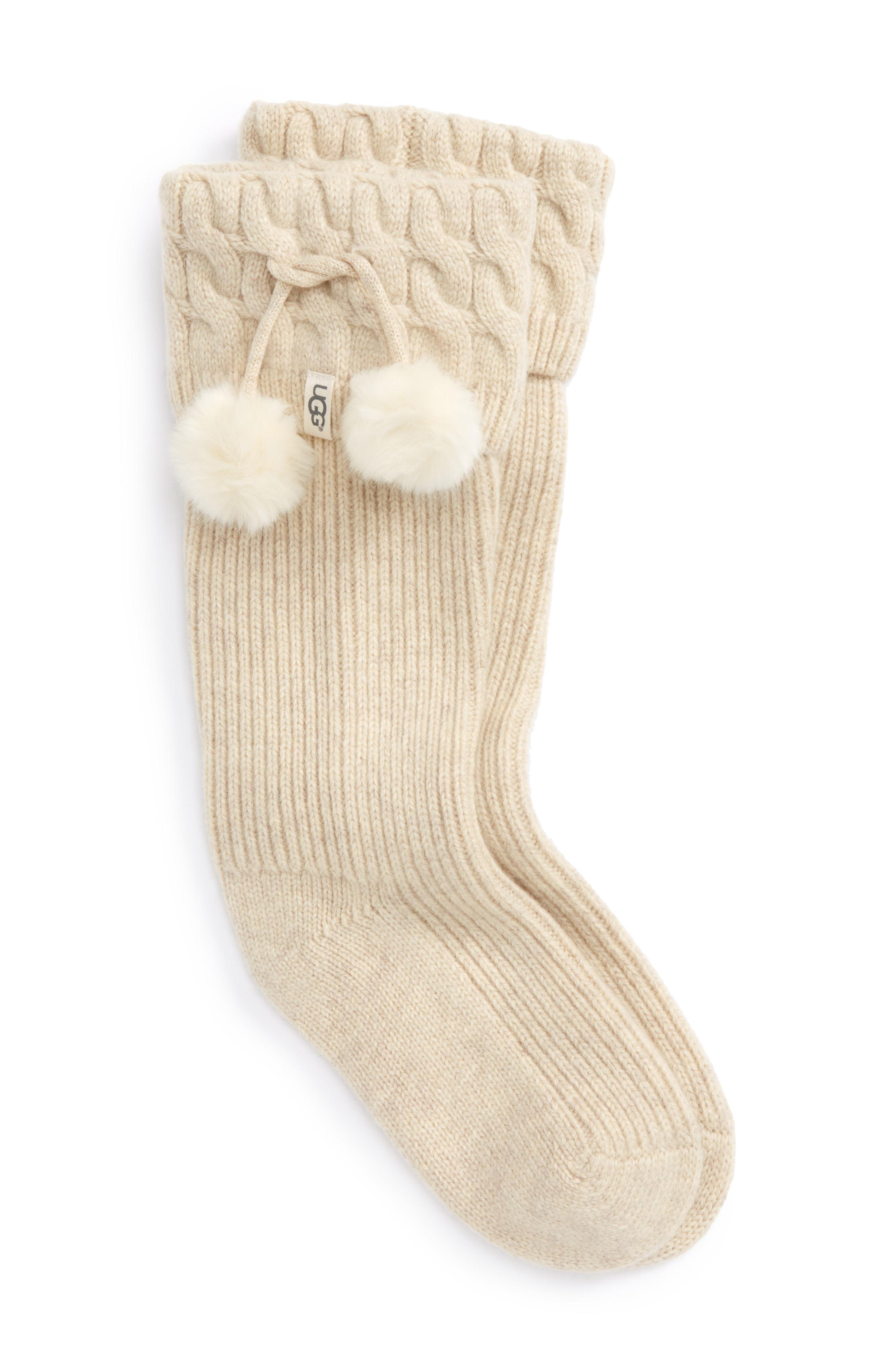 Lyst - Ugg Ugg Uggpure(TM) Pompom Tall Rain Boot Sock in White