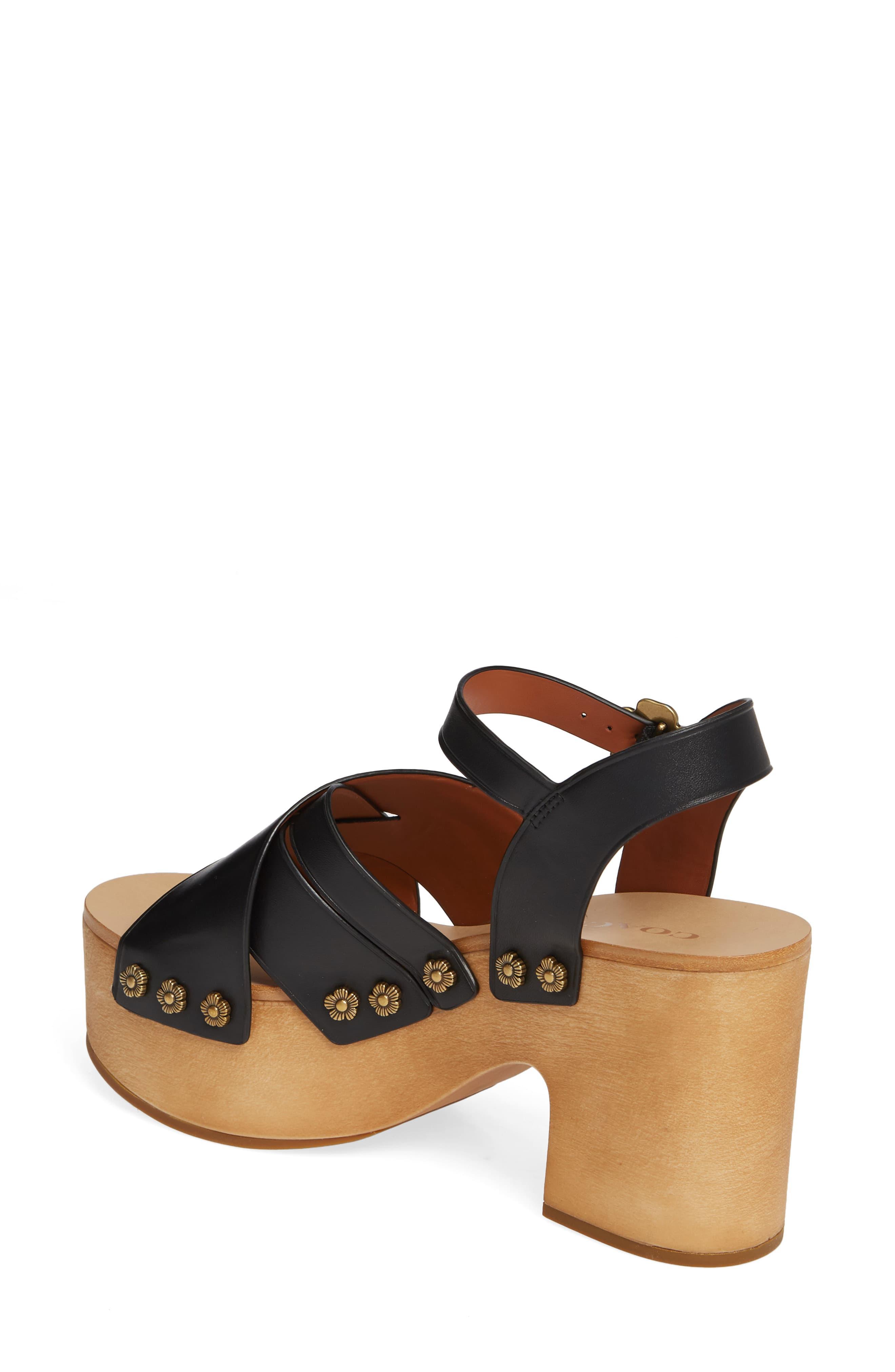 afd62a771b COACH Nessa Clog Platform Sandal in Black - Save 50% - Lyst
