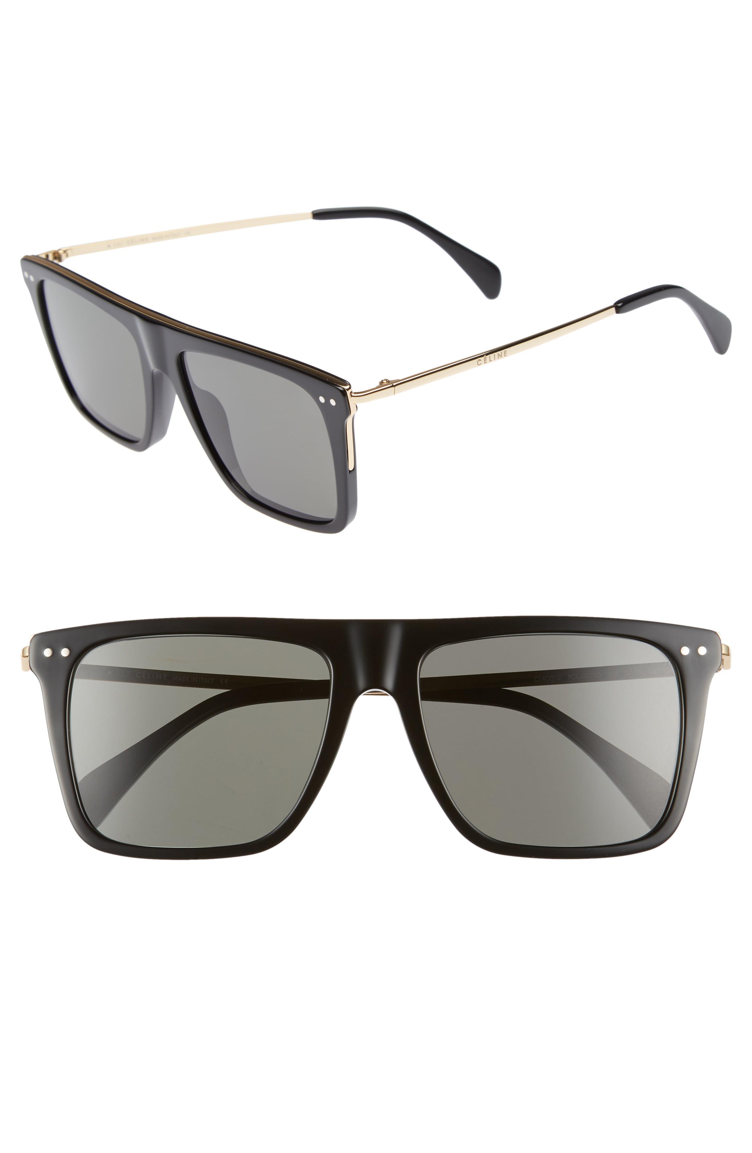 279a39e3a160f Céline. Women s 54mm Polarized Flat Top Sunglasses