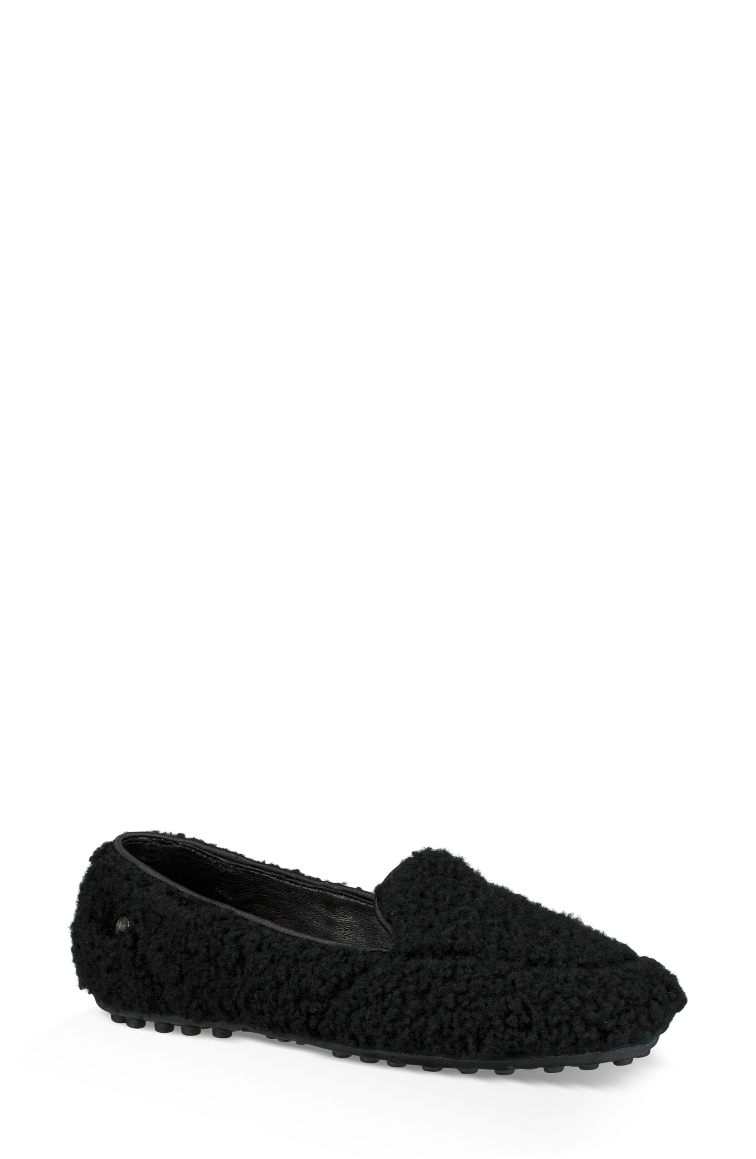 fac559c537d Lyst - UGG Ugg Hailey Fluff Genuine Shearling Slipper in Black