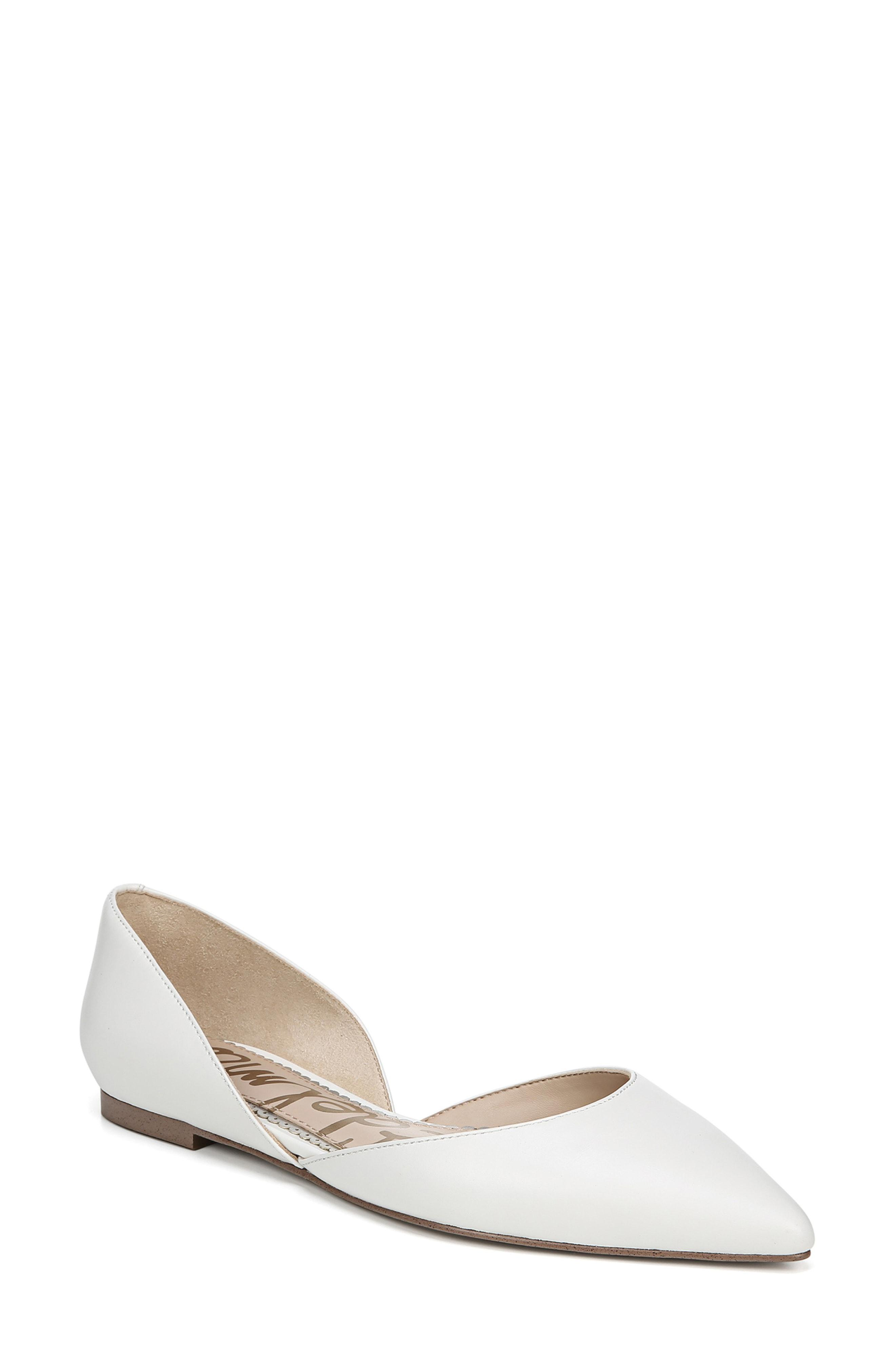 990cbc26d154f Lyst - Sam Edelman Rodney Pointy Toe D orsay Flat in White