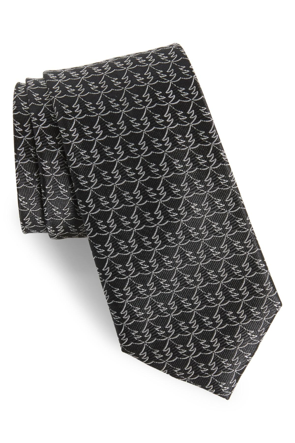 Lyst - Nordstrom Christmas Tree Silk Tie in Black for Men