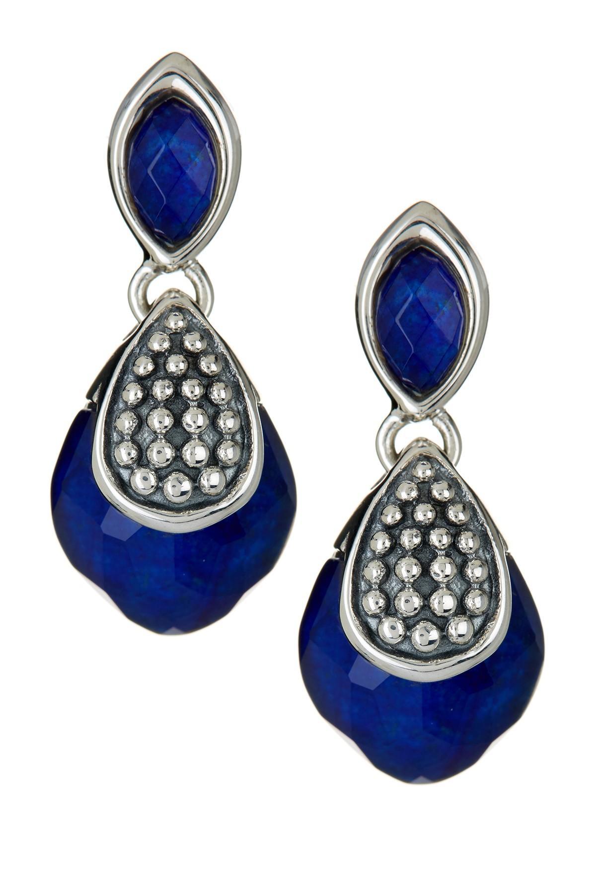 Lyst Lagos Sterling Silver Maya Lapis Drop Earrings In