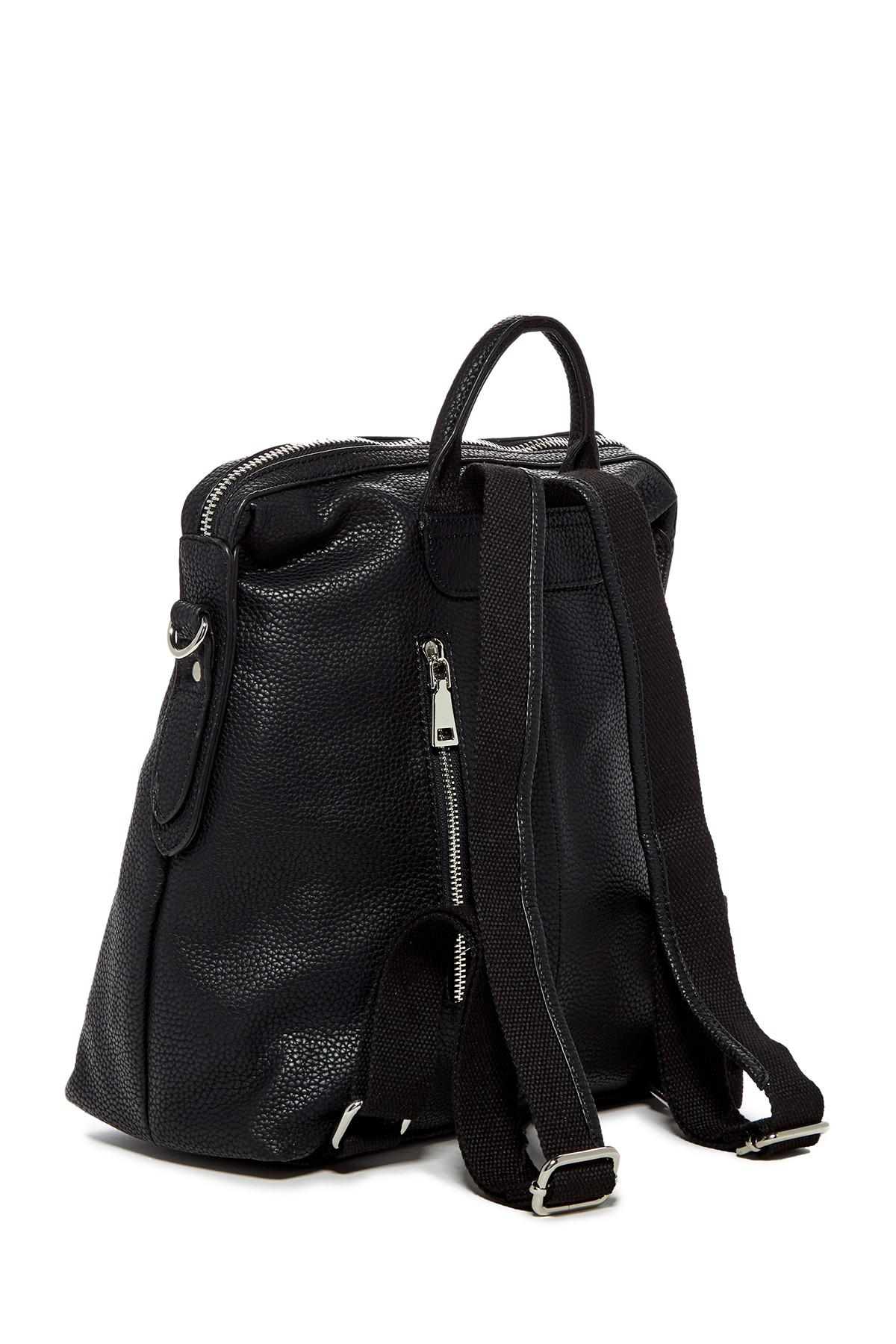 46aeb9a3ad Lyst - Urban Expressions Kenzie Vegan Leather Backpack in Black