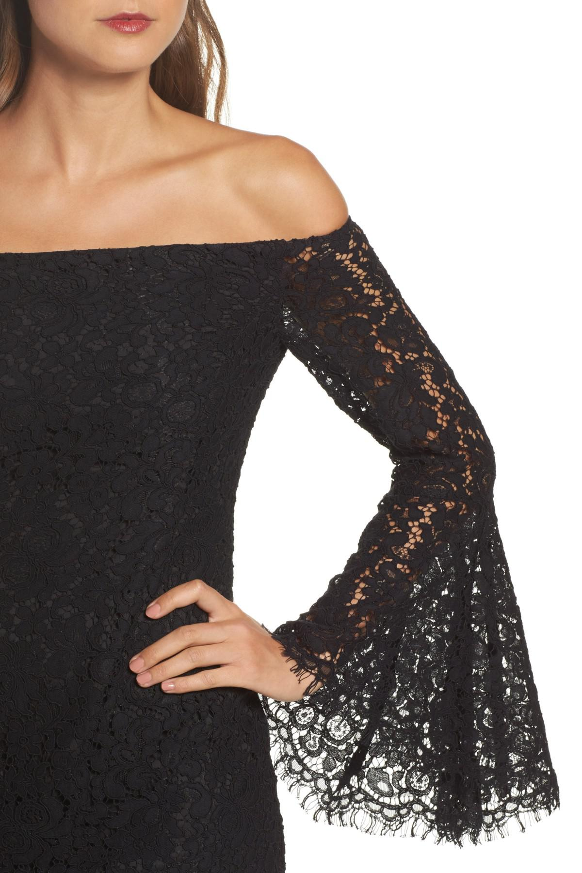 31521671 Bardot Solange Corded Lace Sheath Dress in Black - Lyst