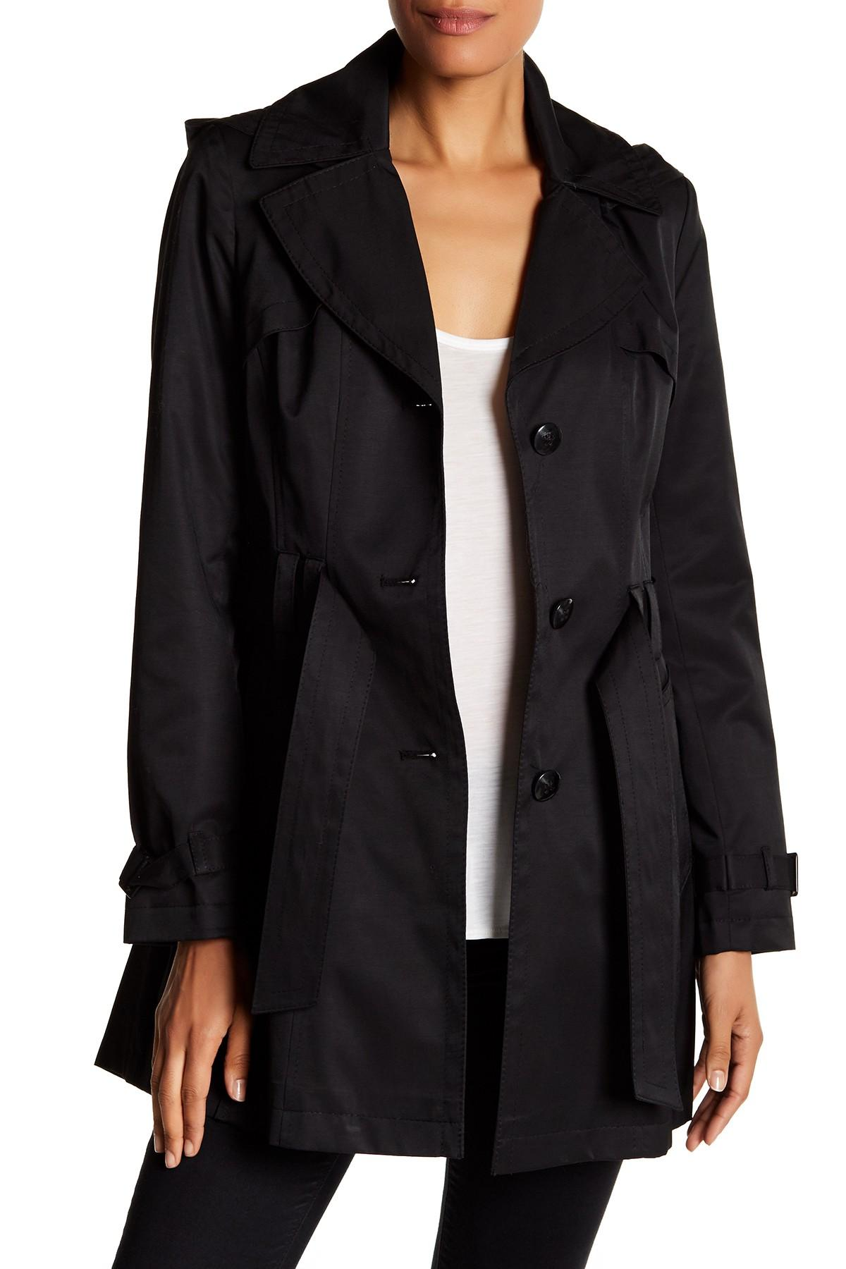 black trench coat with hood - photo #23