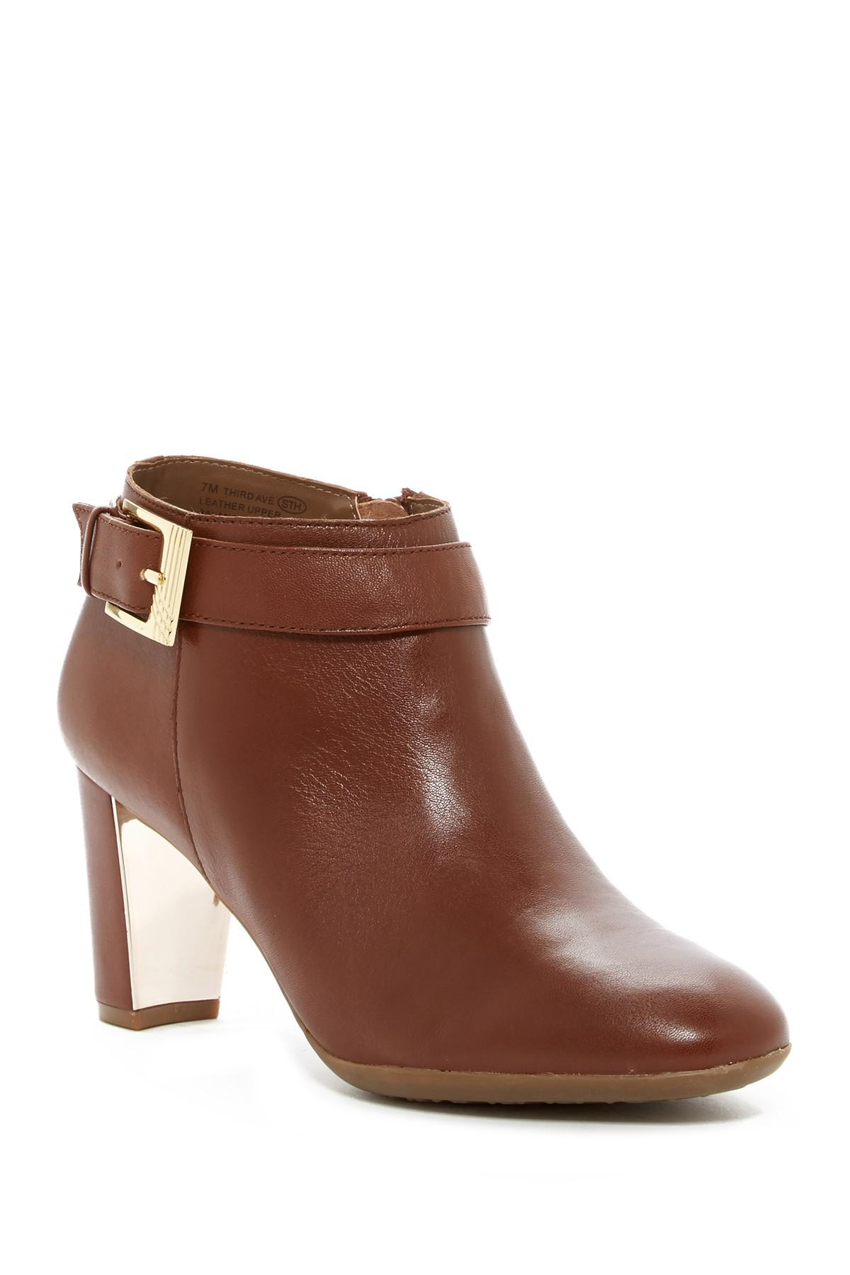 Aerosoles Third Ave Ankle Boot(Women's) -Dark Tan Leather Supply Cheap Price Sale Discounts Cheap Store Buy Cheap Choice Sale With Credit Card nuhS1qHcC