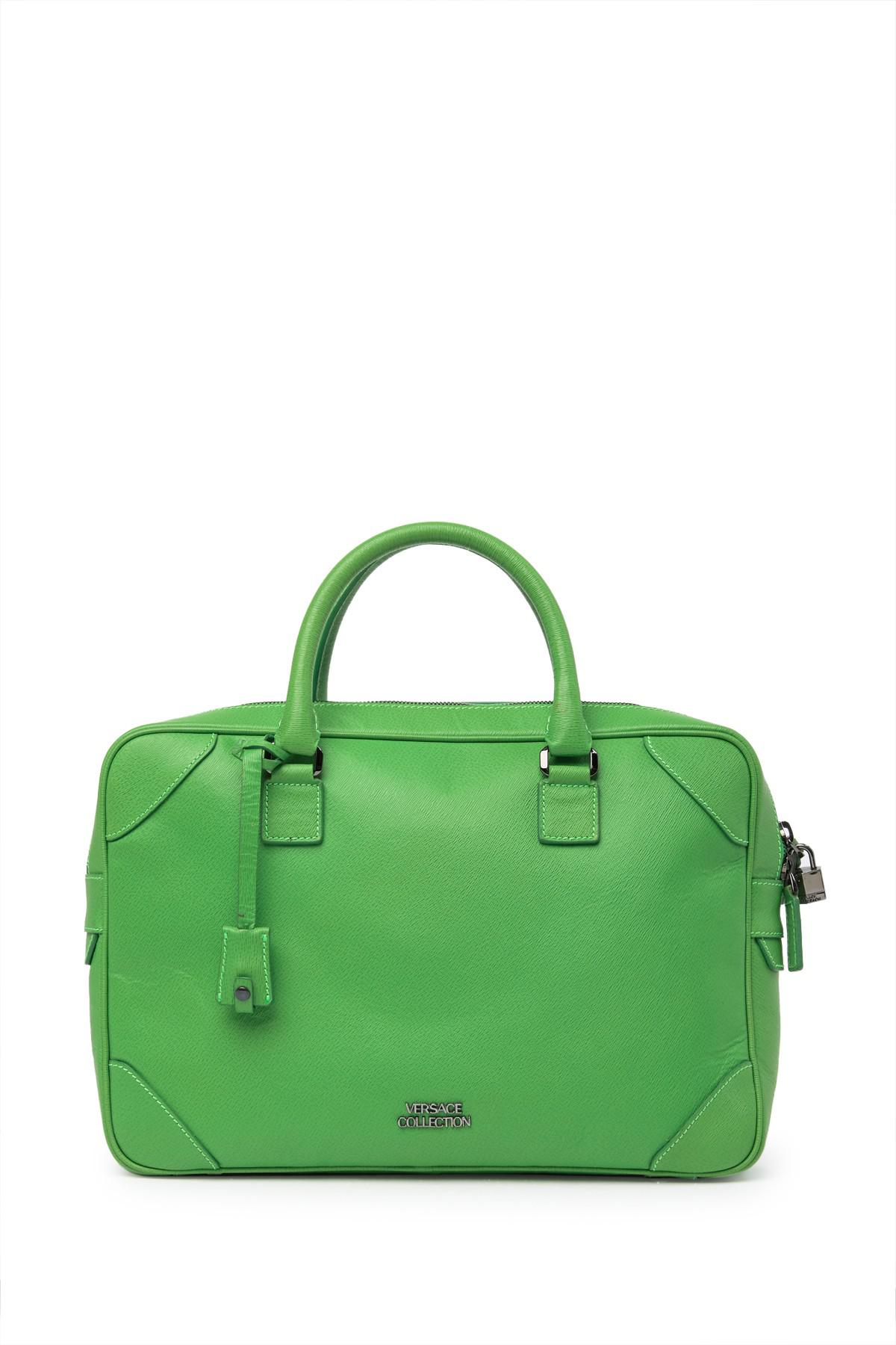 Lyst - Versace Leather Travel Bag in Green for Men 70126f37d429f