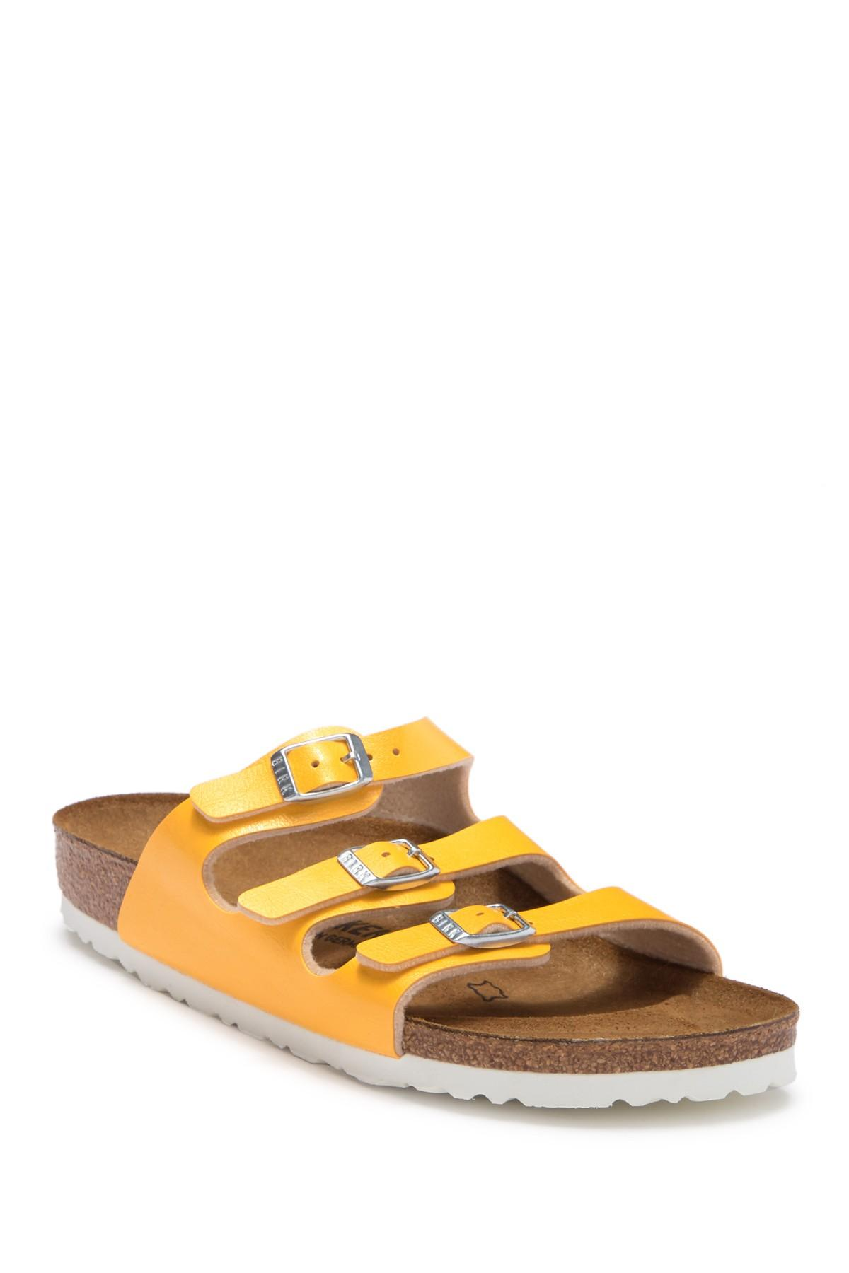 Lyst - Birkenstock Florida Soft Footbed Sandal - Discontinued in Yellow 8f057f0396c5