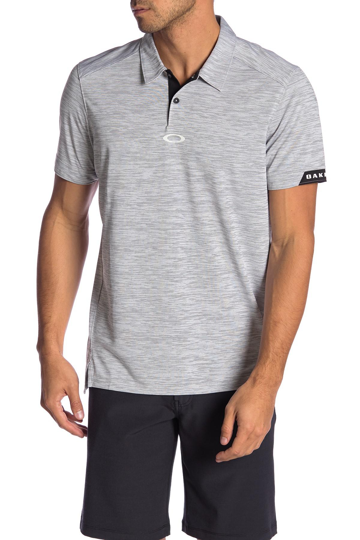 0331f97220 Lyst - Oakley Gravity Tailored Fit Polo in Gray for Men
