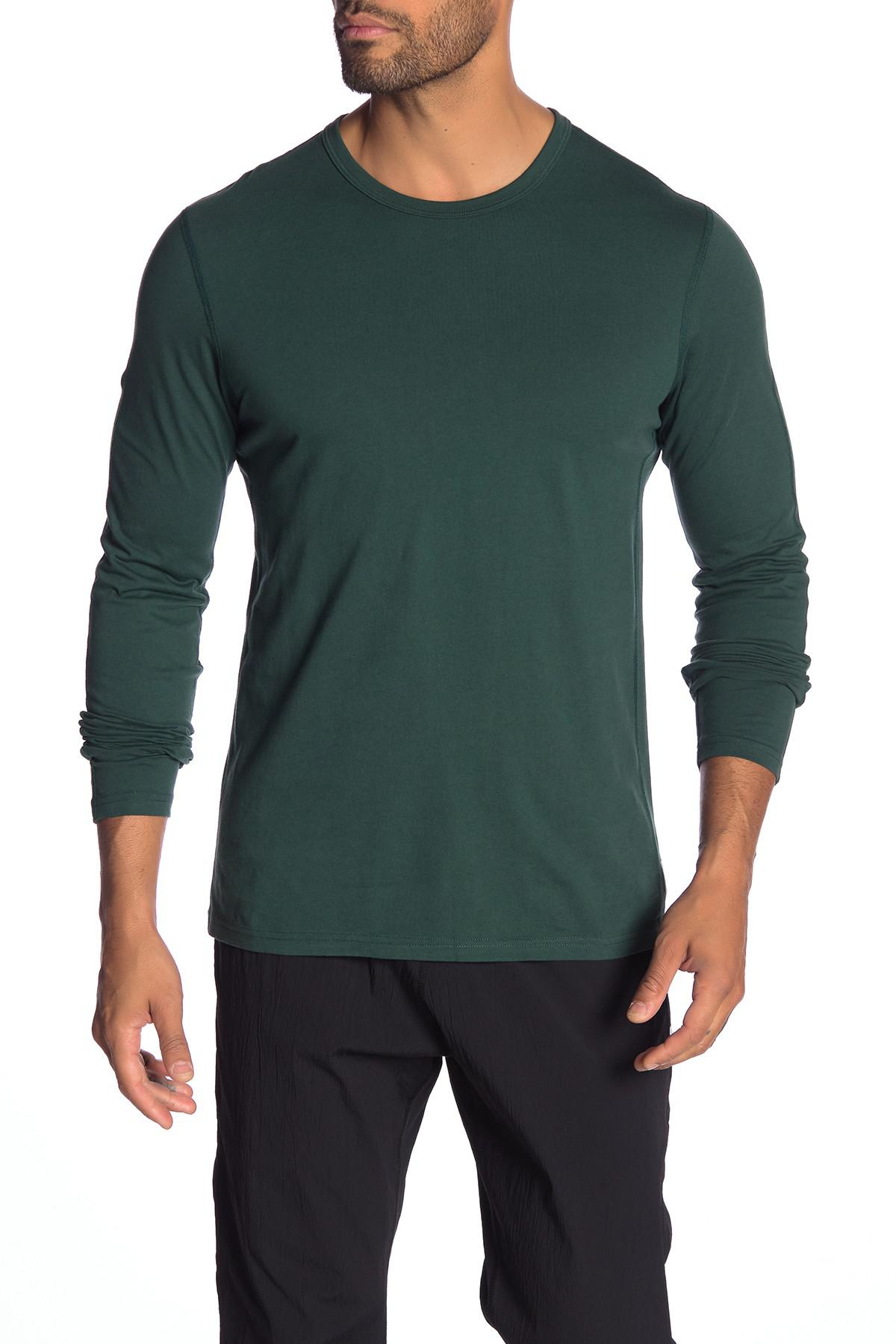 247bf58c0 Lyst - Reigning Champ Crew Neck Long Sleeve Tee in Green for Men