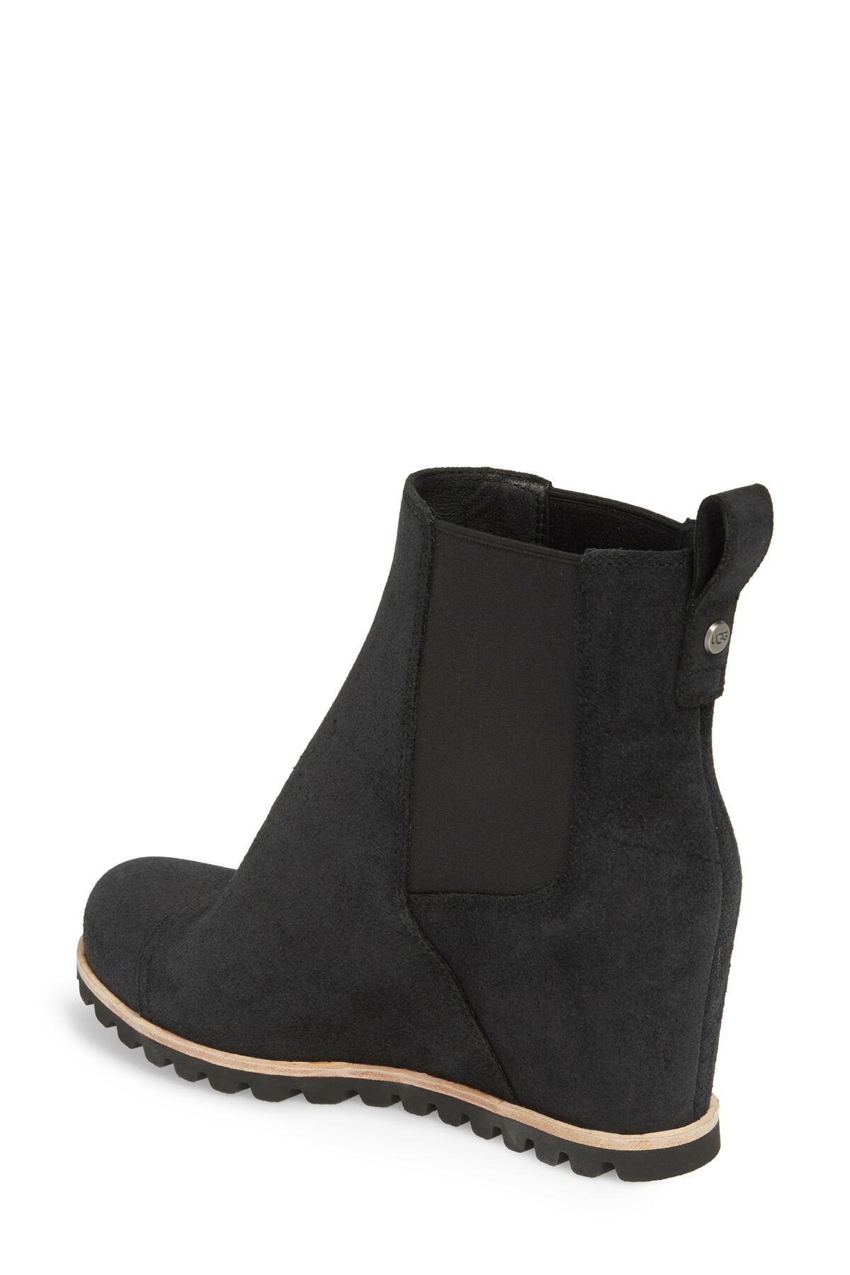 36c8373e46ec Ugg - Black (r) Pax Waterproof Wedge Boot (women) - Lyst. View fullscreen