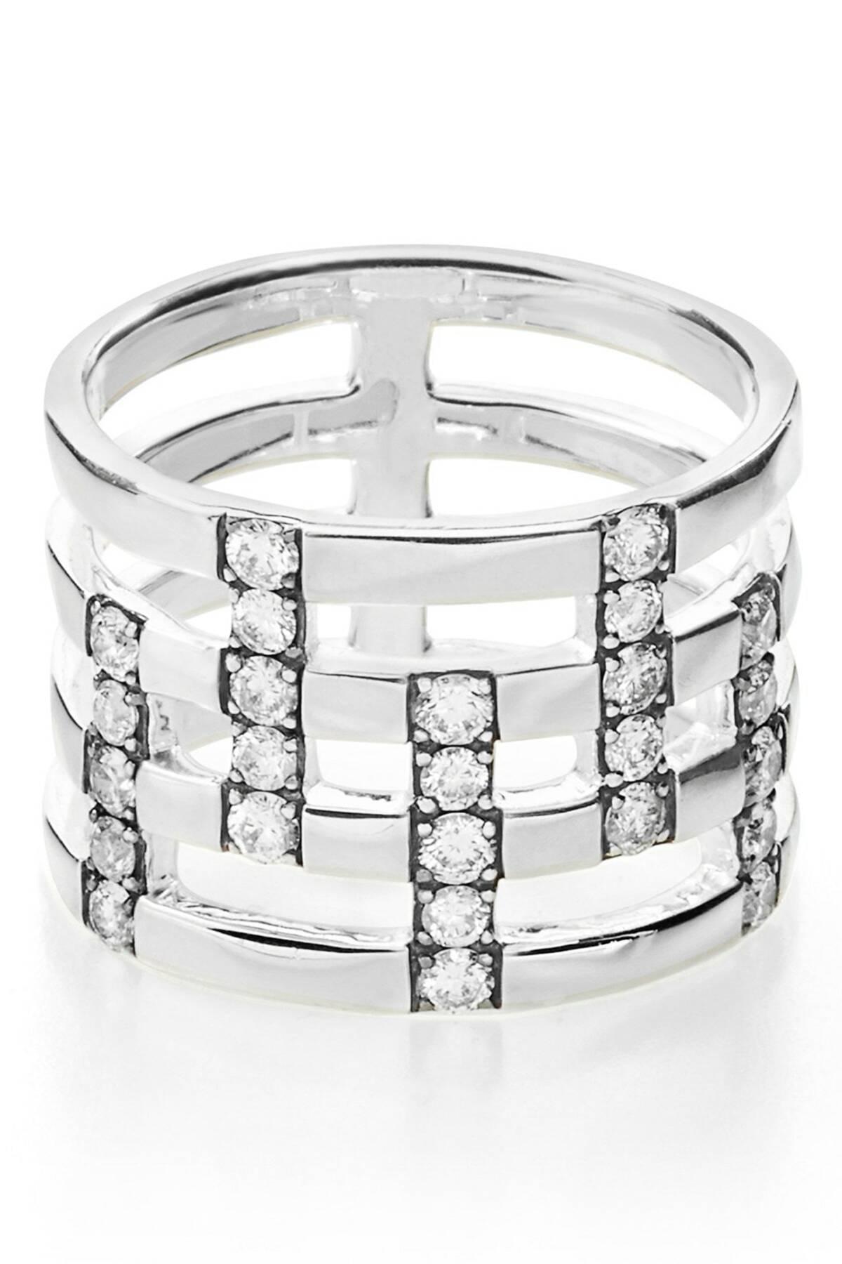 ded0c4356 Ippolita Glamazon Stardust Pave Diamond Openwork Ring - 0.72 Ctw in ...