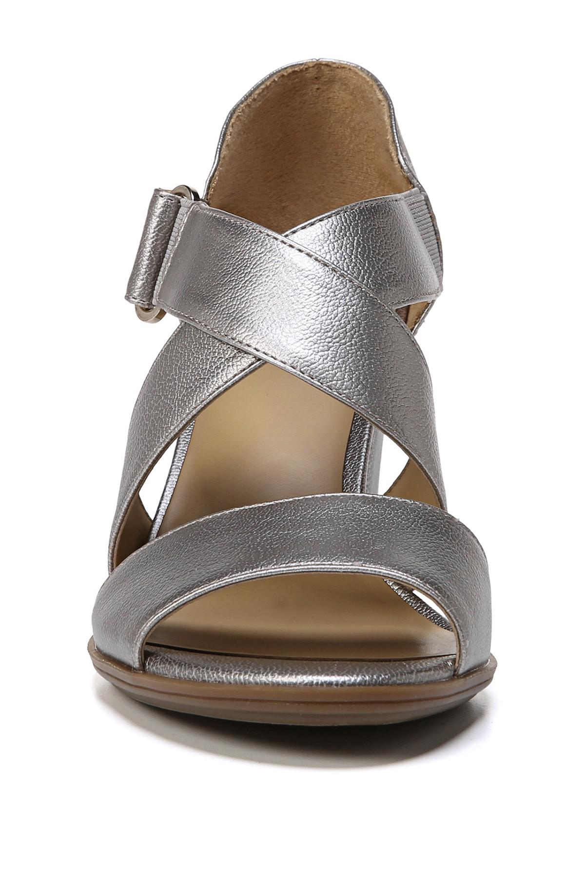 03917c5cdcdd Naturalizer - Metallic Lindy Sandal - Wide Width Available - Lyst. View  fullscreen