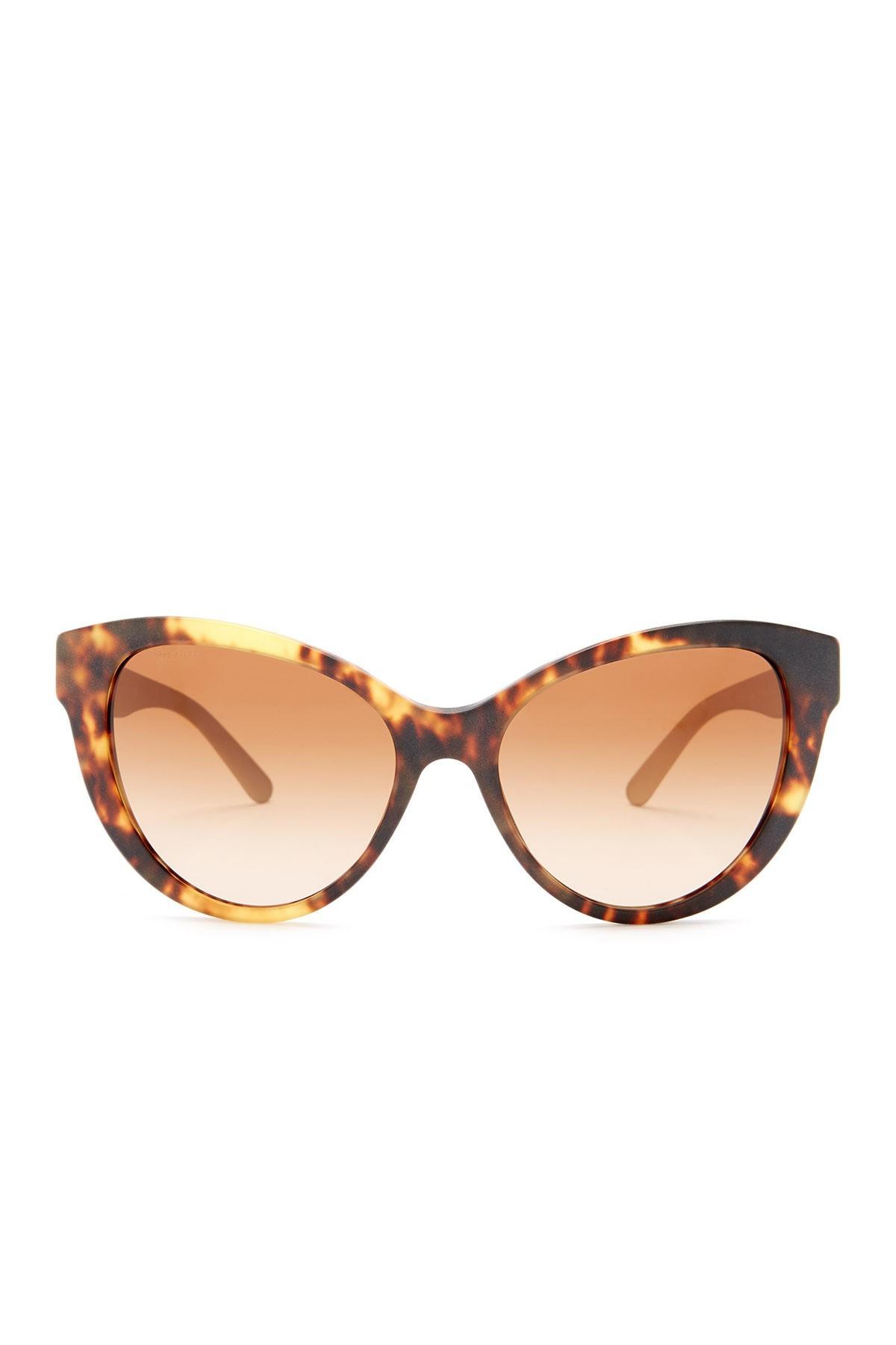 c071534da0a Lyst - Burberry Women s Cat Eye Acetate Frame Sunglasses in Brown