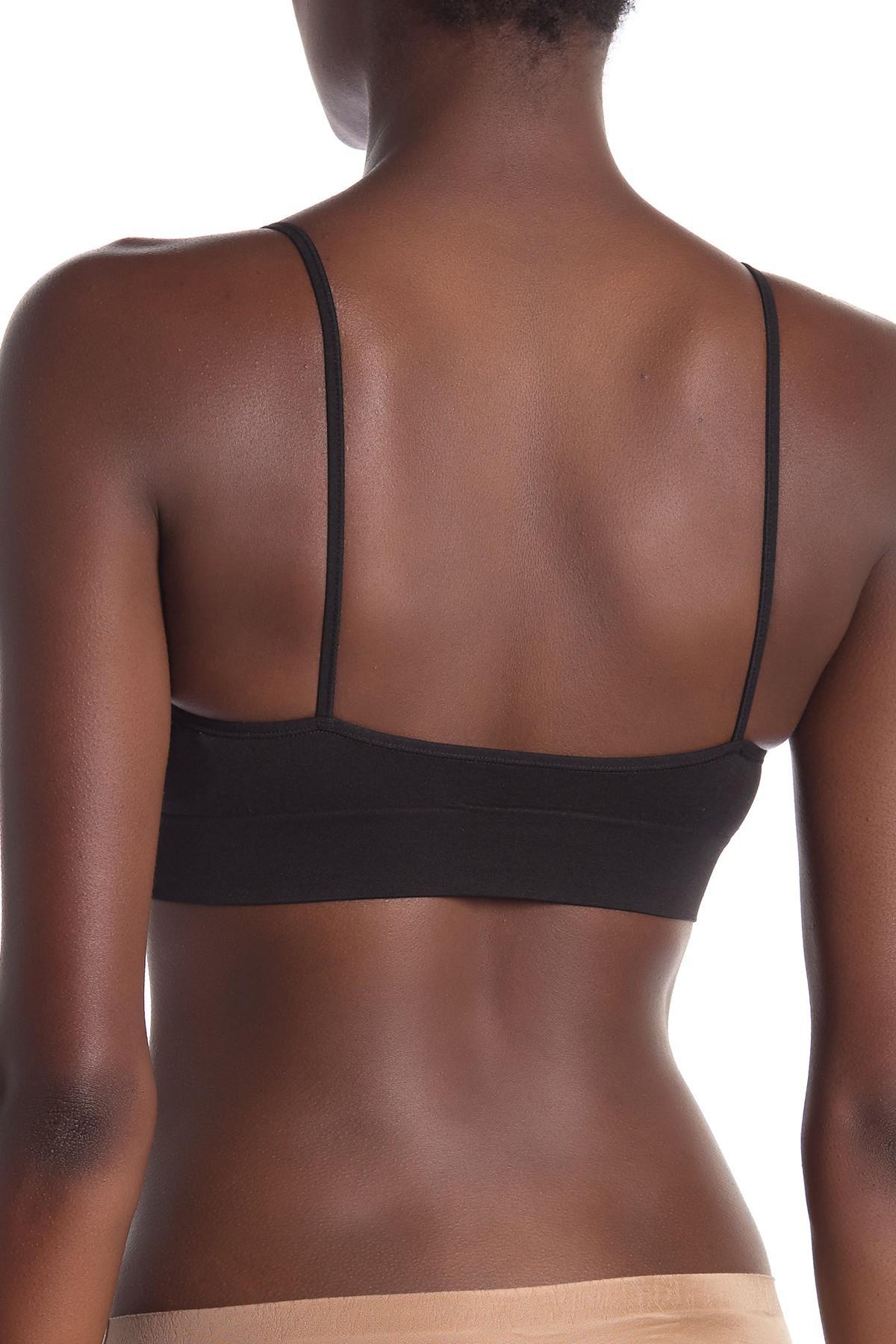 58e750ec0f Lyst - Calvin Klein Logo Hem Bralette