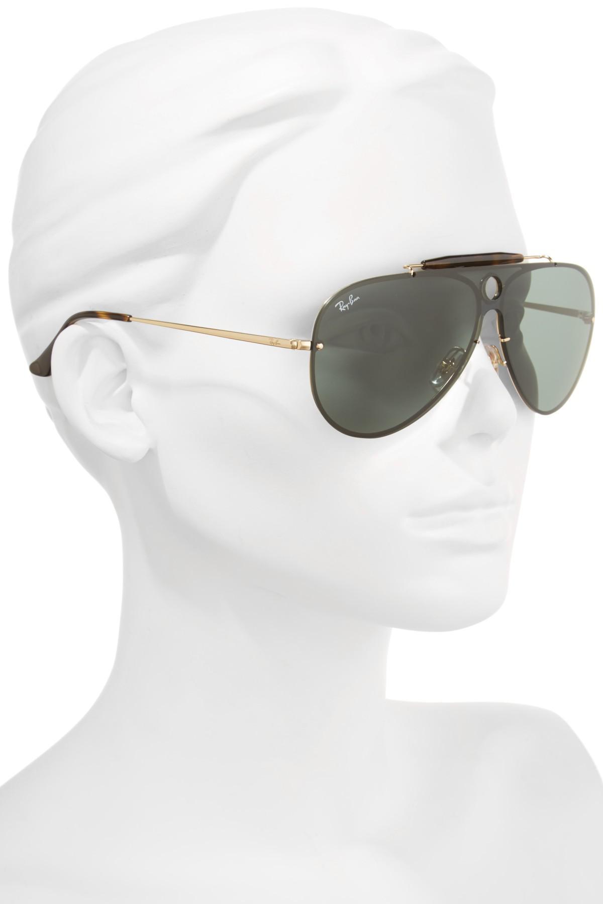 0206ab1cf4213 Ray-Ban Blaze Shooter Shield Sunglasses in Metallic - Lyst