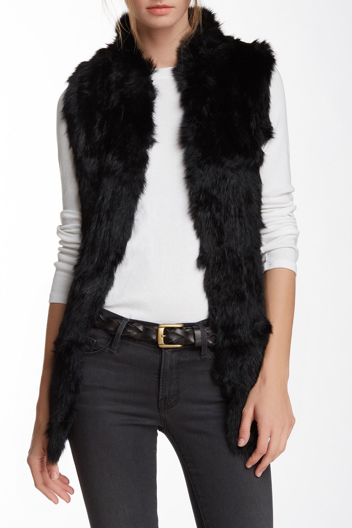 61b9c9bab Love Token Genuine Rabbit Fur & Knit Vest (nordstrom Exclusive) in ...