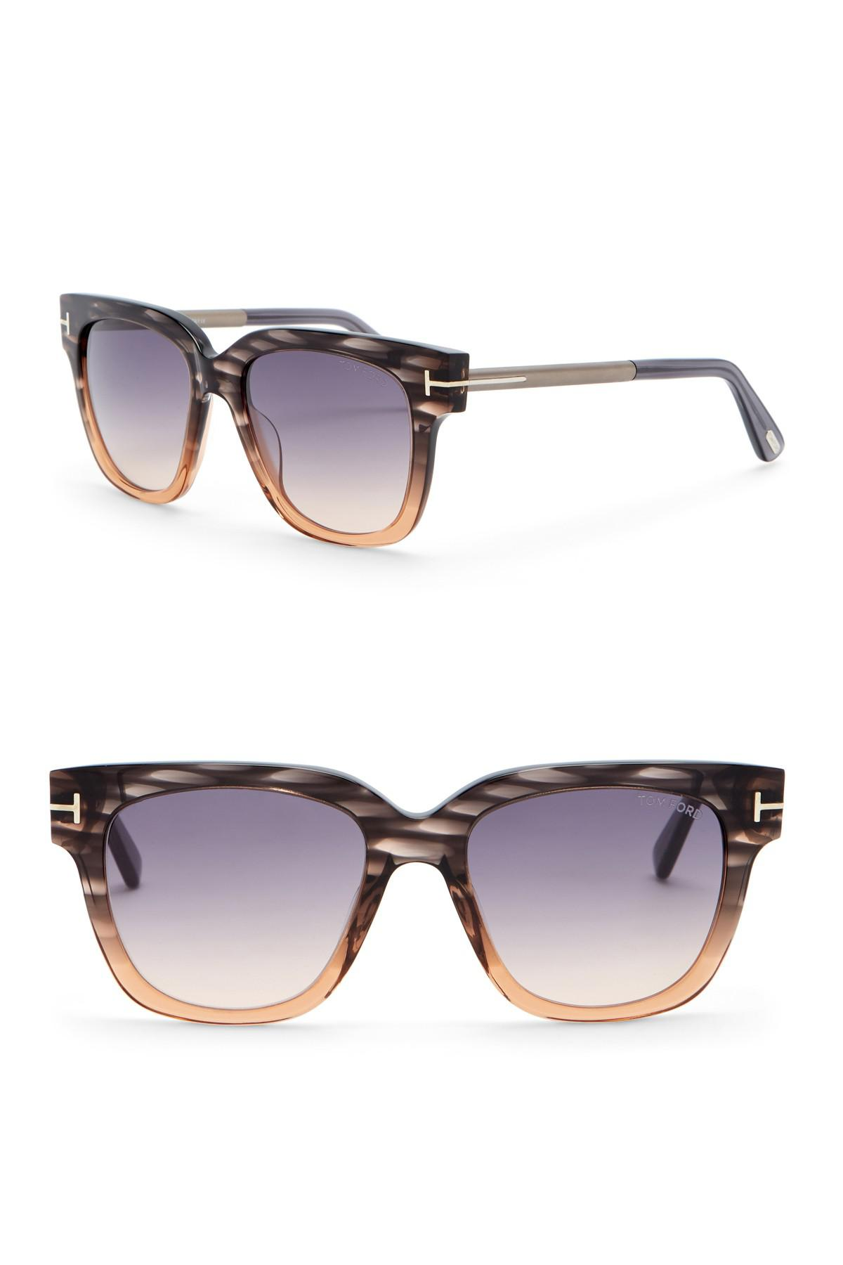 d3465d3e58d Lyst - Tom Ford Tracy 53mm Square Sunglasses
