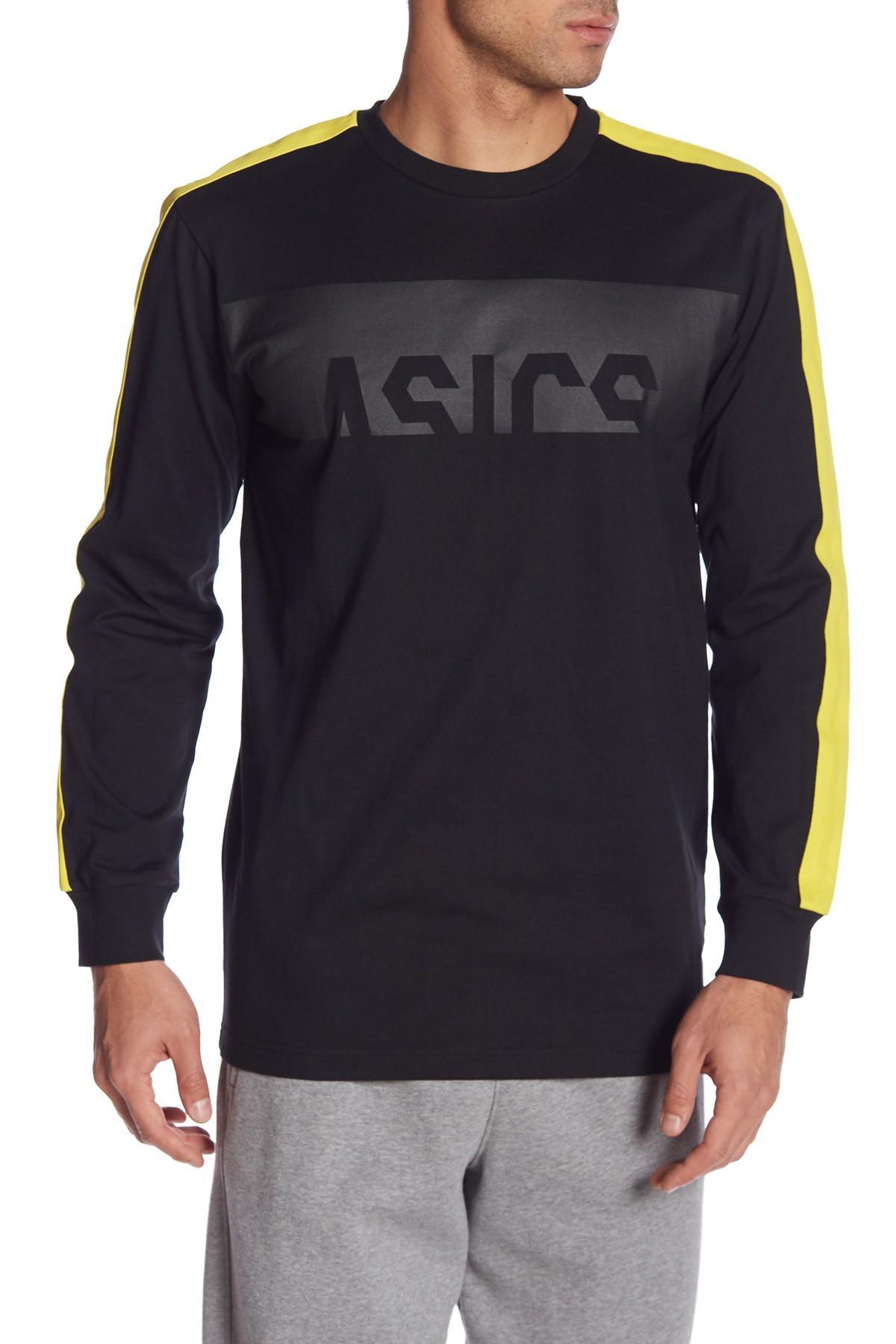 96b2abd75f Lyst - Asics Dojo Long Sleeve Crew Neck Tee in Black for Men