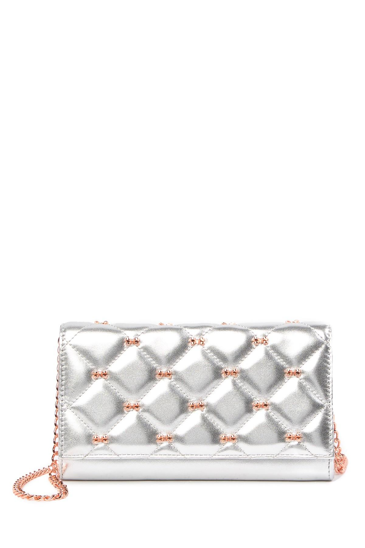 c54eaf305 Ted Baker. Women s Metallic Quilted Bow Leather Matin e Wallet On A Chain