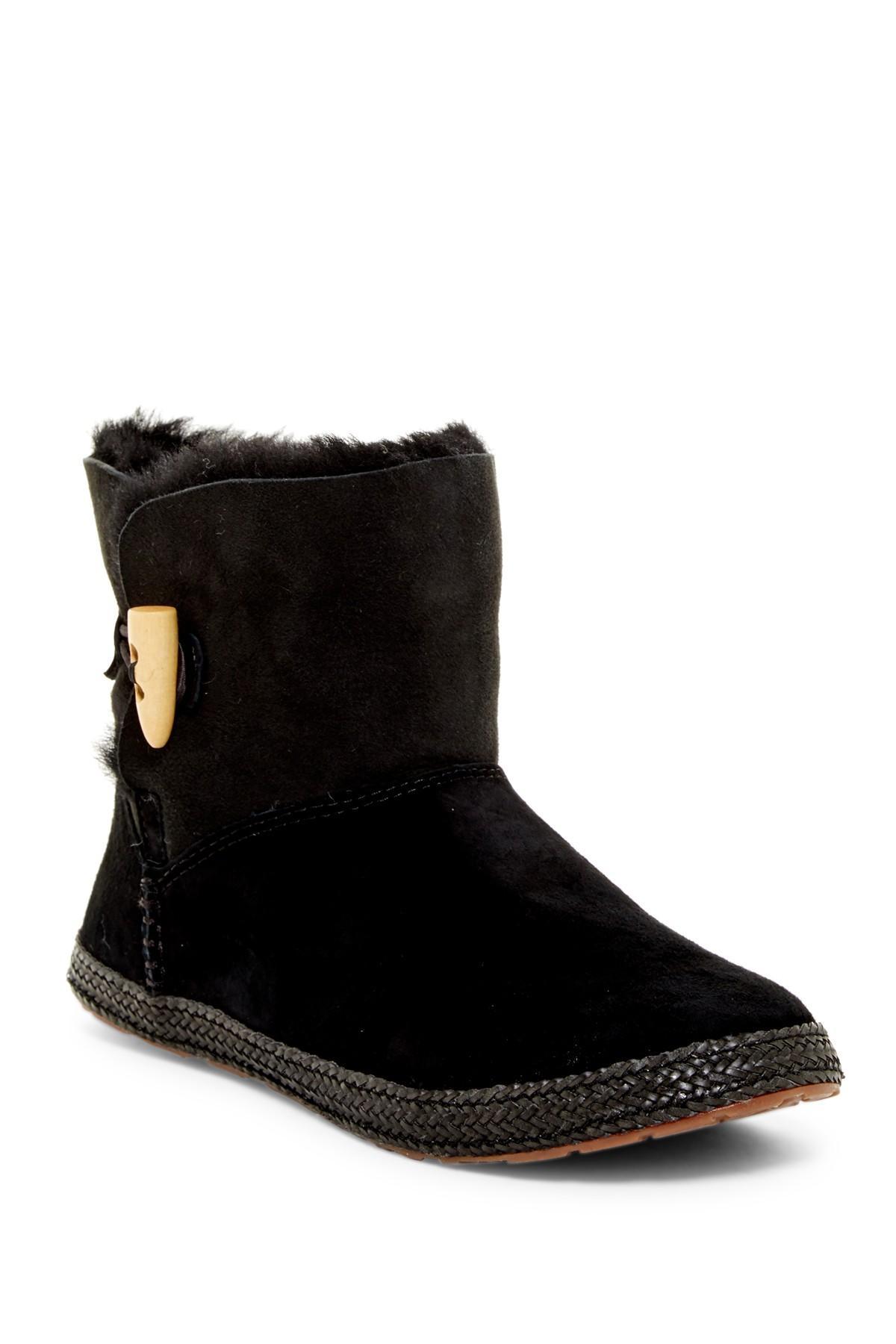 Lyst Ugg Garnet Genuine Shearling Lined Boot In Black