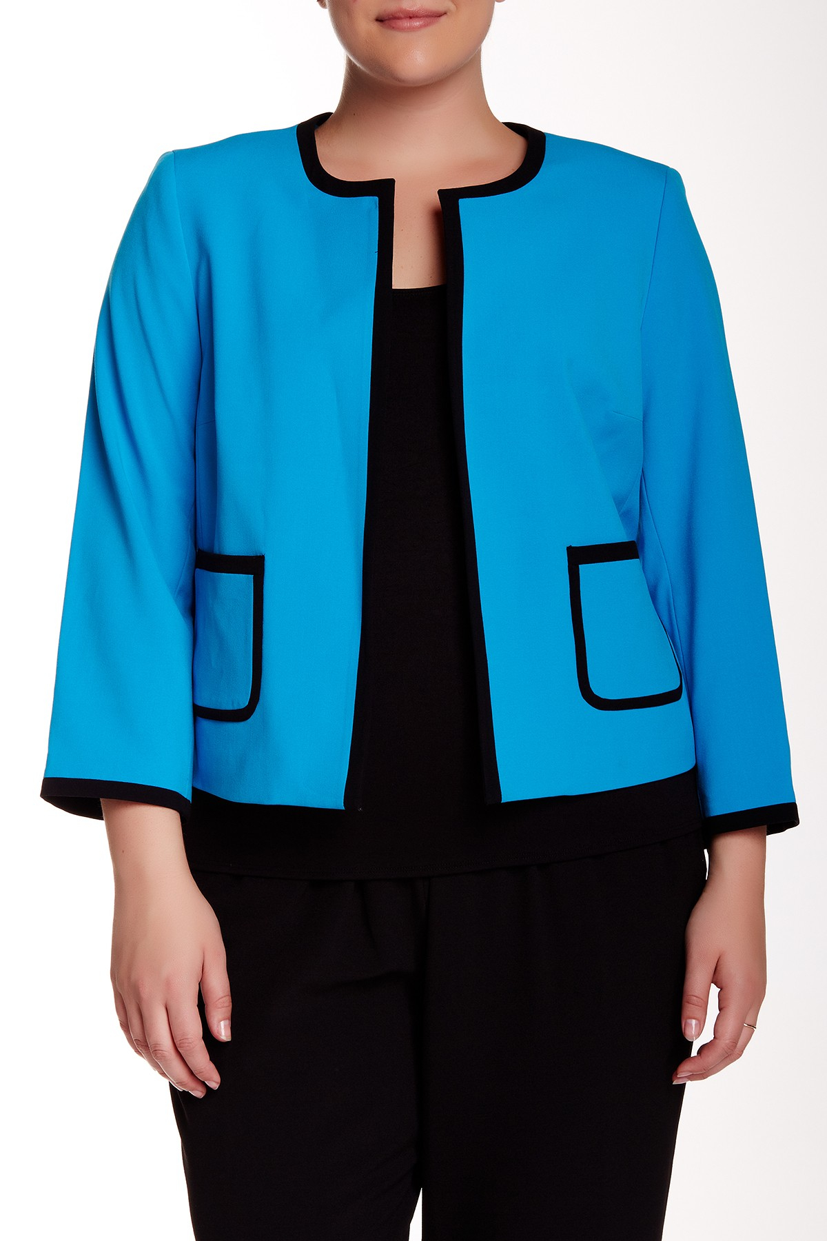 Nine West Taylor Stretch Flyaway Jacket Plus Size In