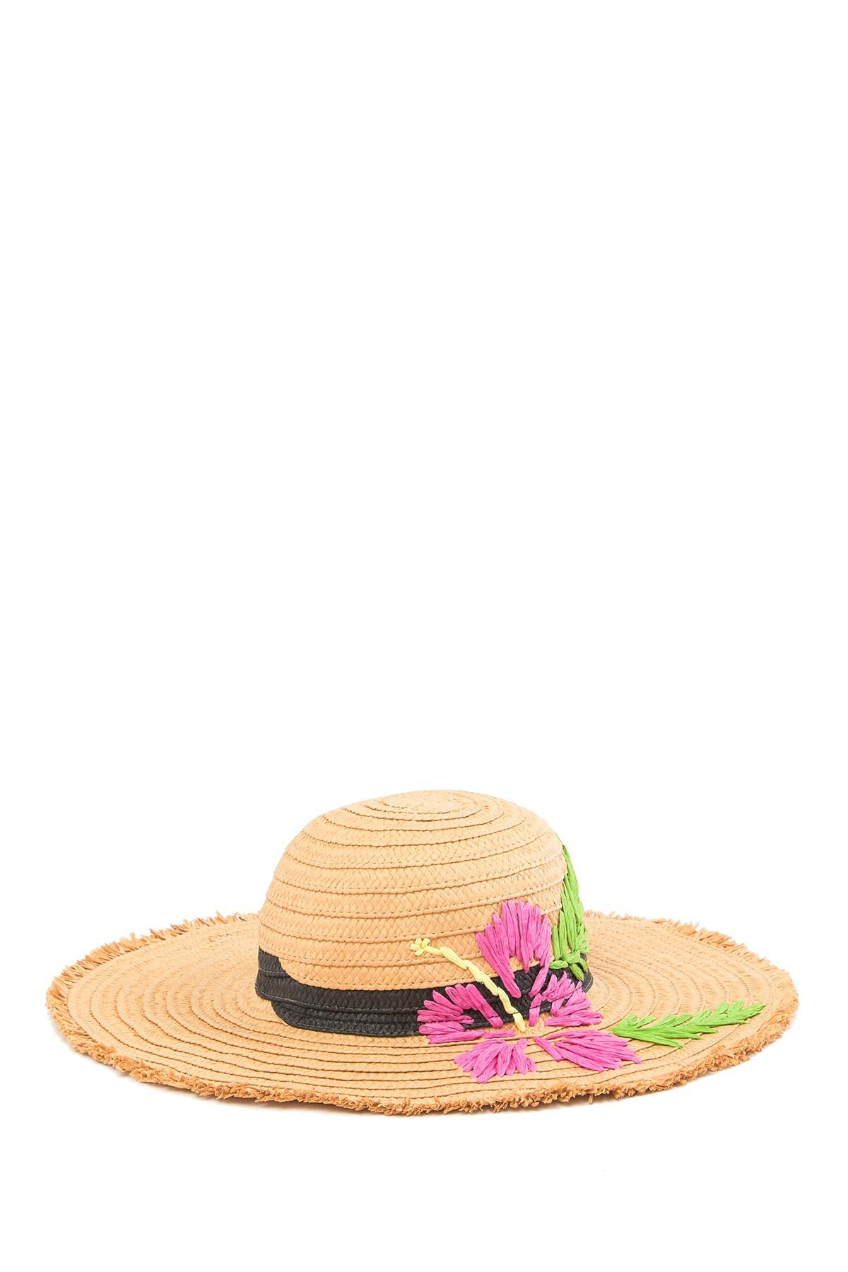 0ea870895f072a Betsey Johnson. Women's Tropical Hibiscus Floppy Hat