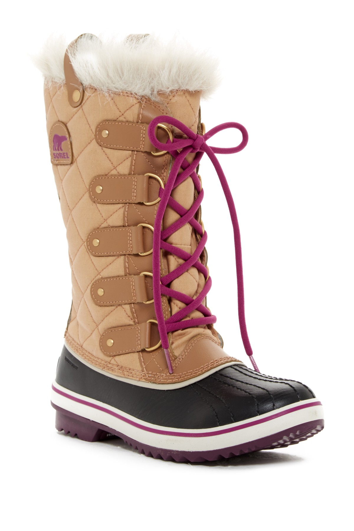 Sorel Tofino Cate Faux Fur Lace Up Boot Waterproof In