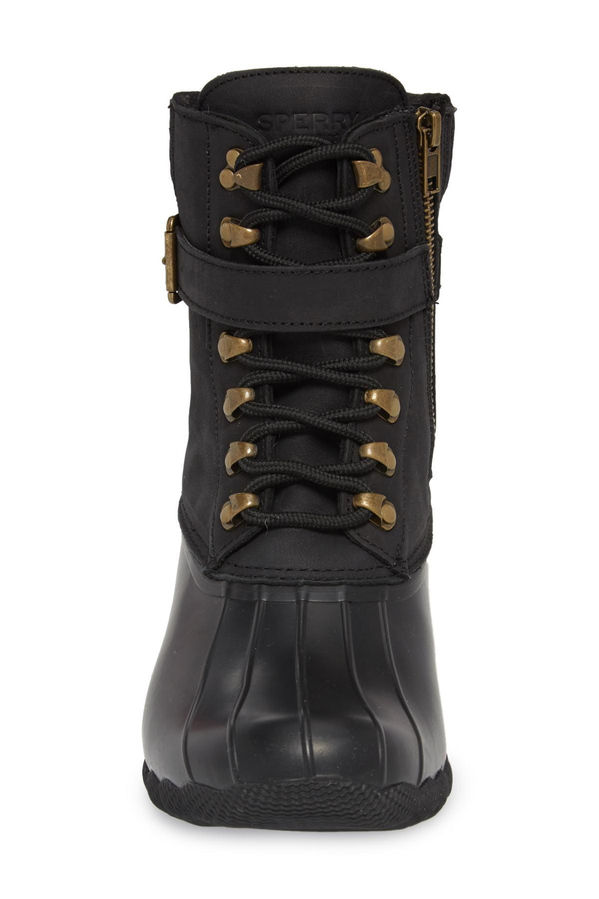 e06312b58182 Lyst - Sperry Top-Sider Shearwater Water-resistant Boot in Black
