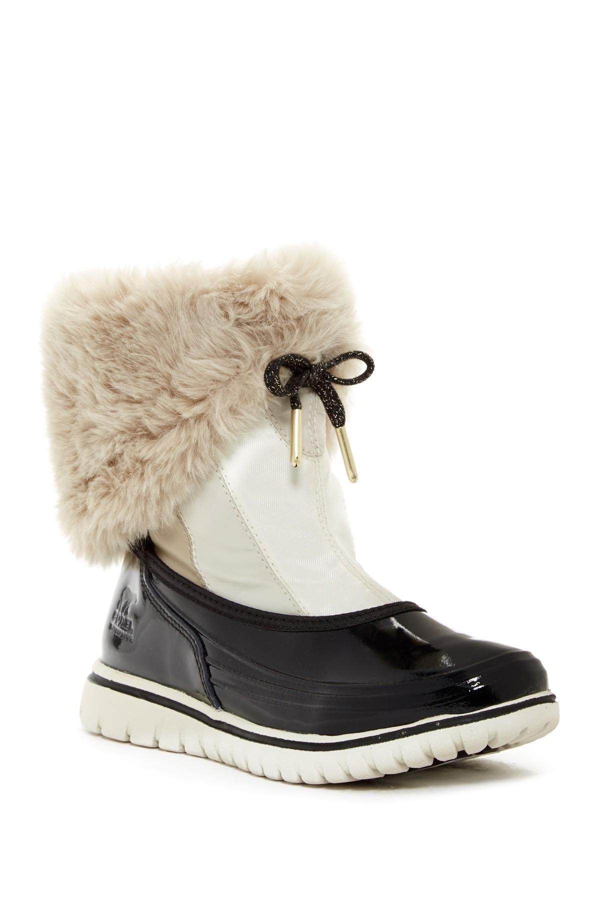 Lyst - Sorel Snowdance Pull On Faux Fur Lined Waterproof Boot (women) 497846ffcd