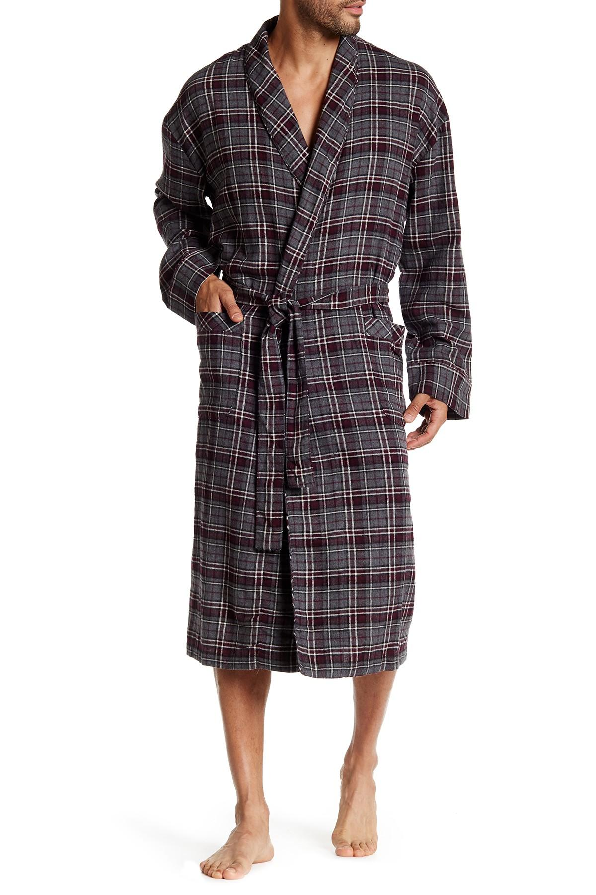 Lyst Majestic Filatures Flannel Shawl Collar Robe In